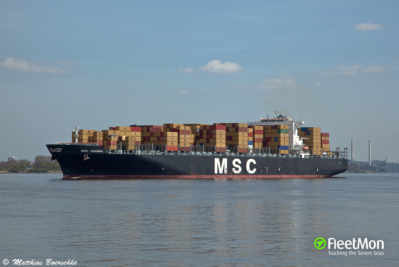 msc joanna (container ship) imo 9304435