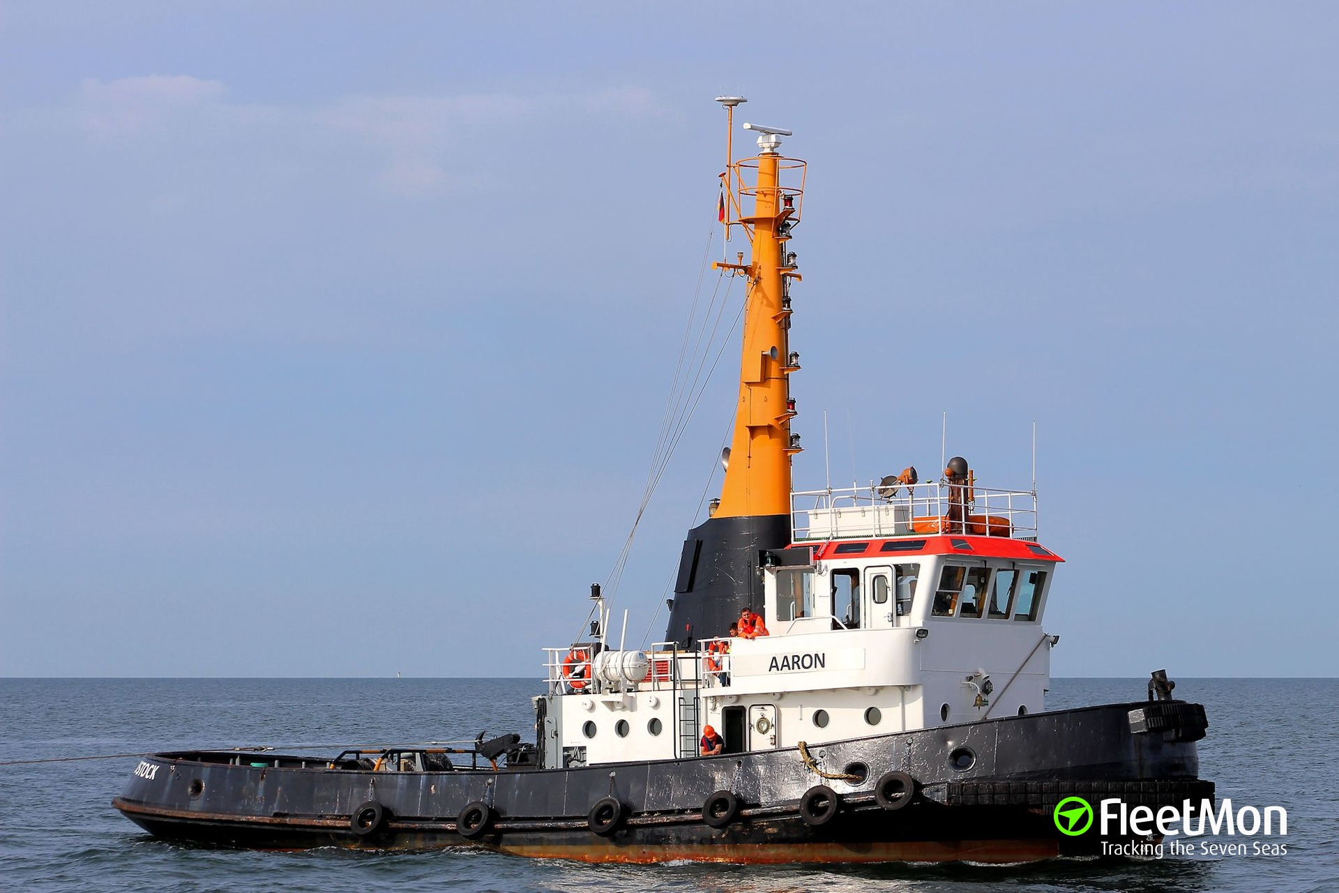 Breakaway barge ran aground, Baltic sea