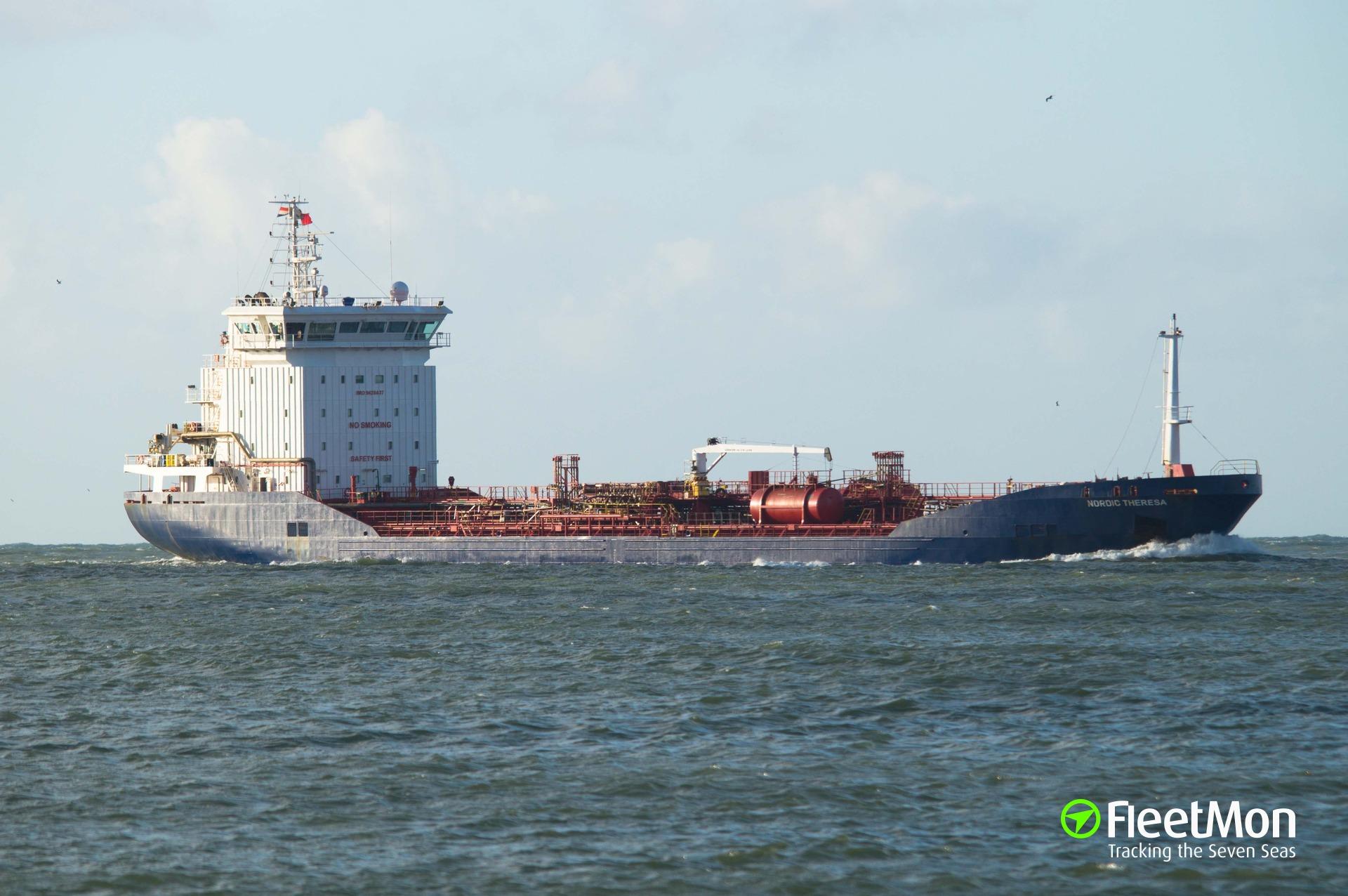 Tanker drifting west of Gibraltar
