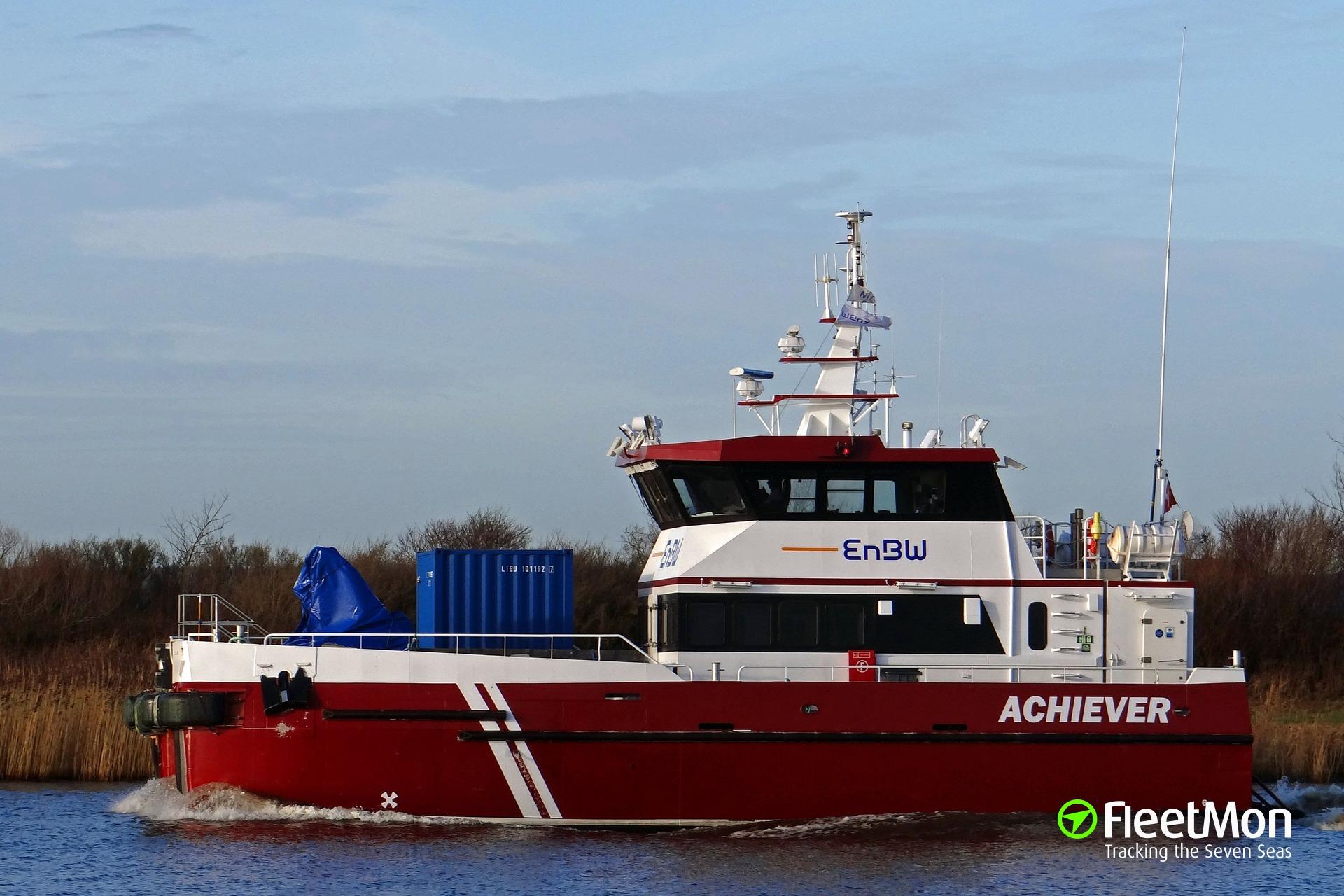 Danish service ship rammed two pleasure boats, Germany