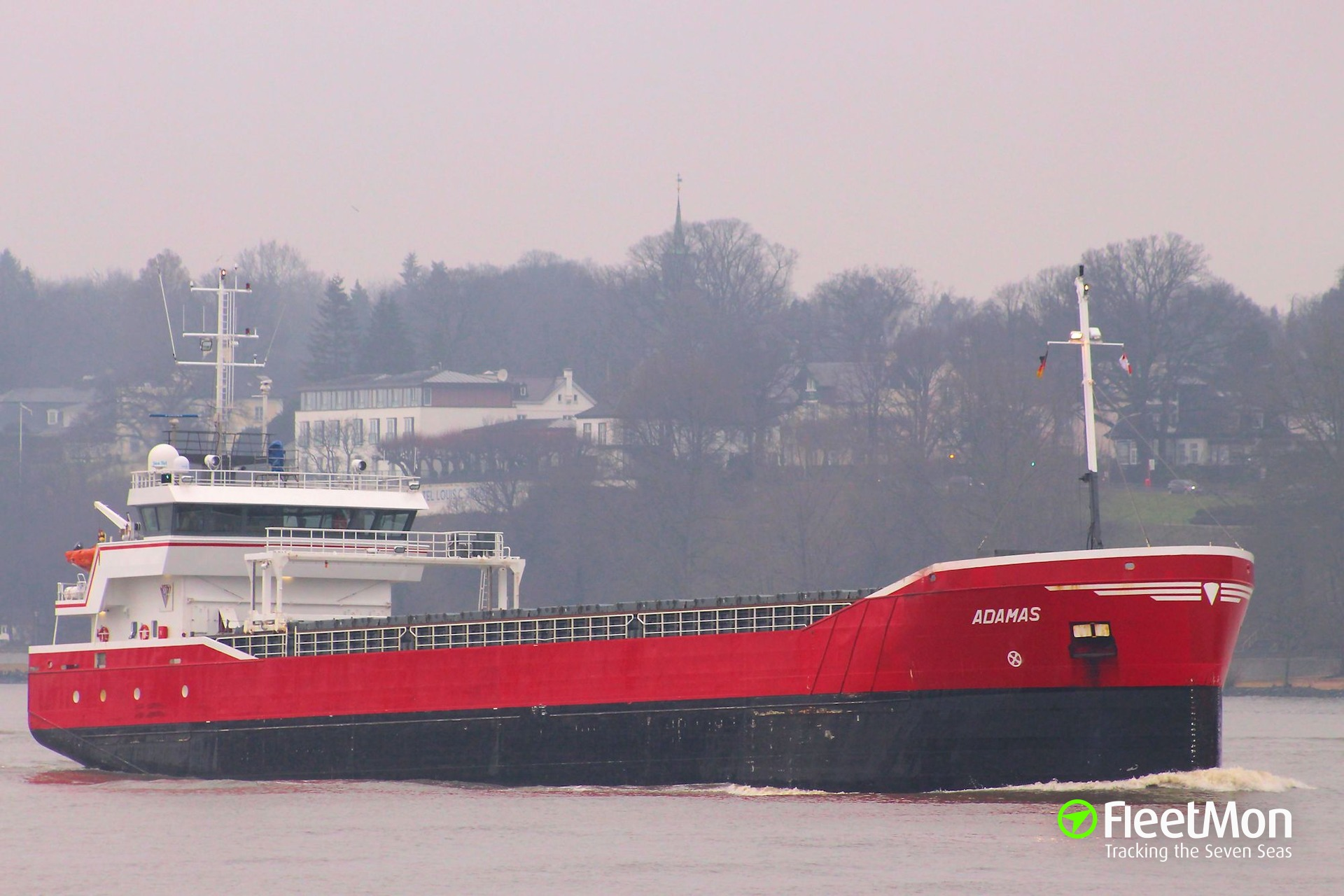 General cargo vessel ADAMAS disabled in Kiel Canal