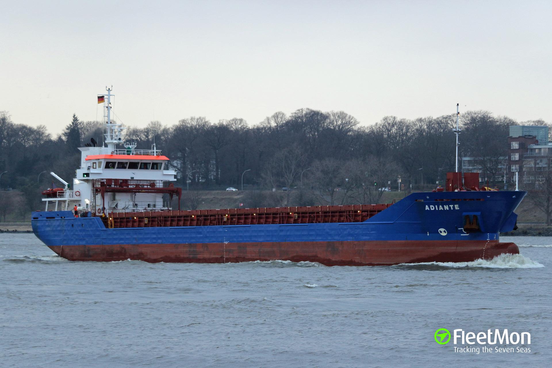 German cargo ship grounding, Ust-Luga, Russia