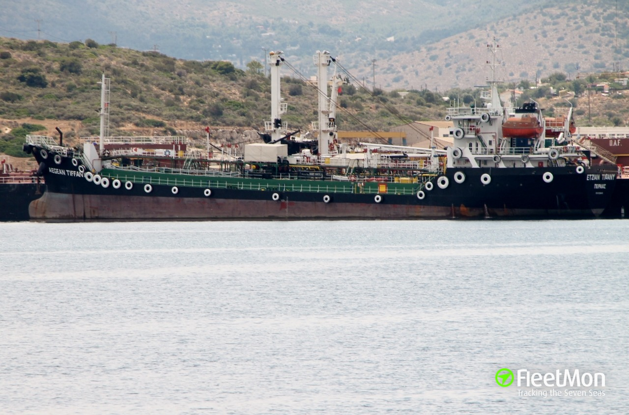 Disabled m/t Aegean Tiffany towed to Patras, Greece