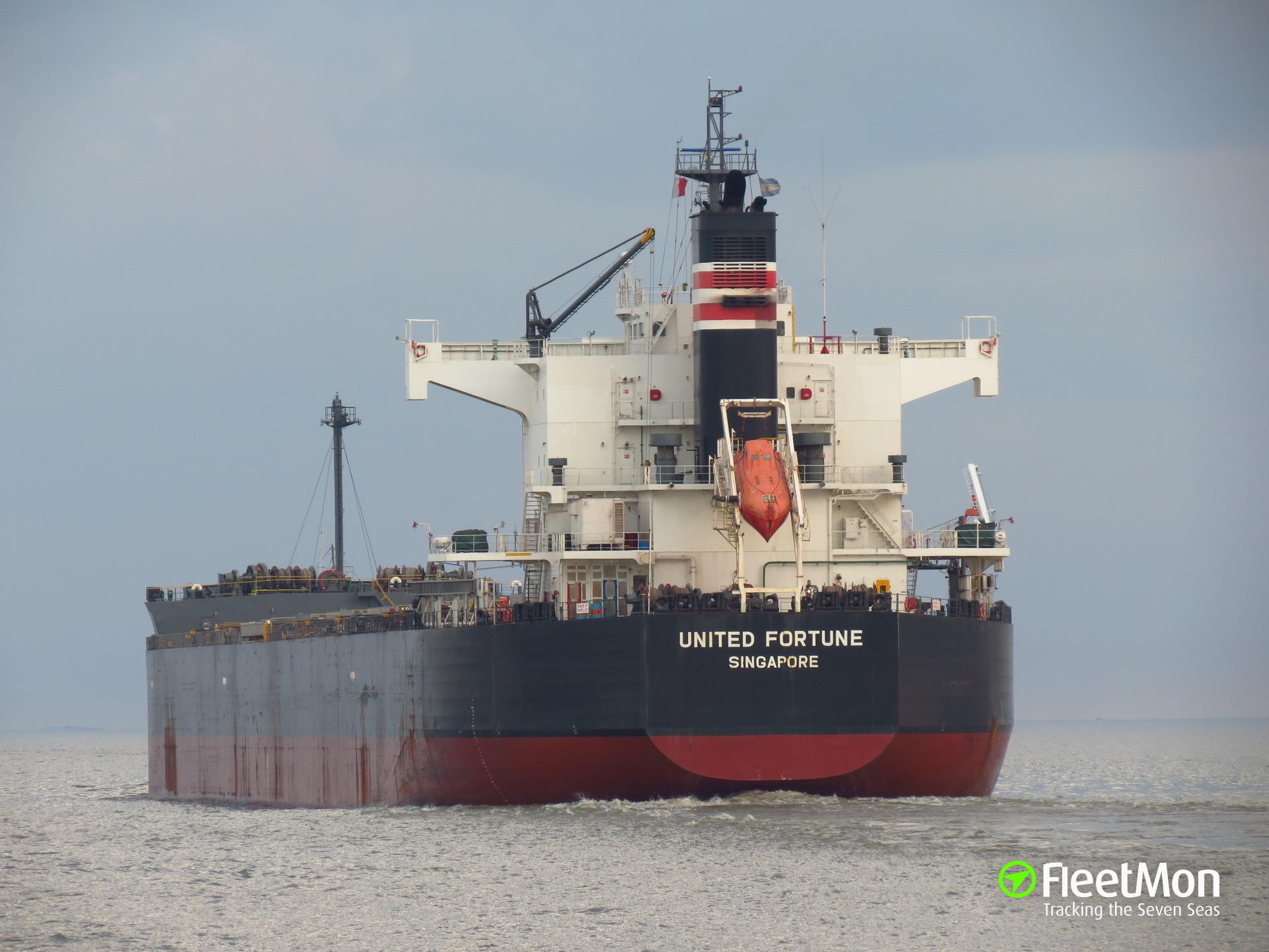 Bulk carrier aground, Parana river