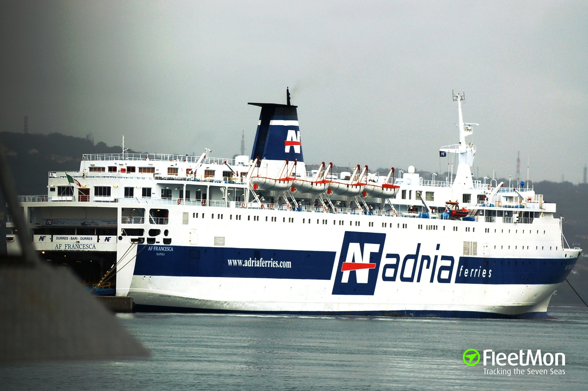 Fire in engine room of Italian ferry, Adriatic sea