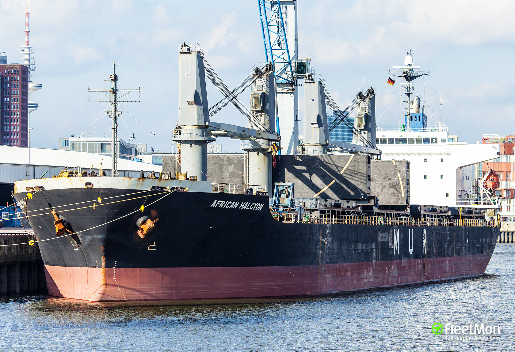 General cargo vessel African Halcyon suspect in pollution