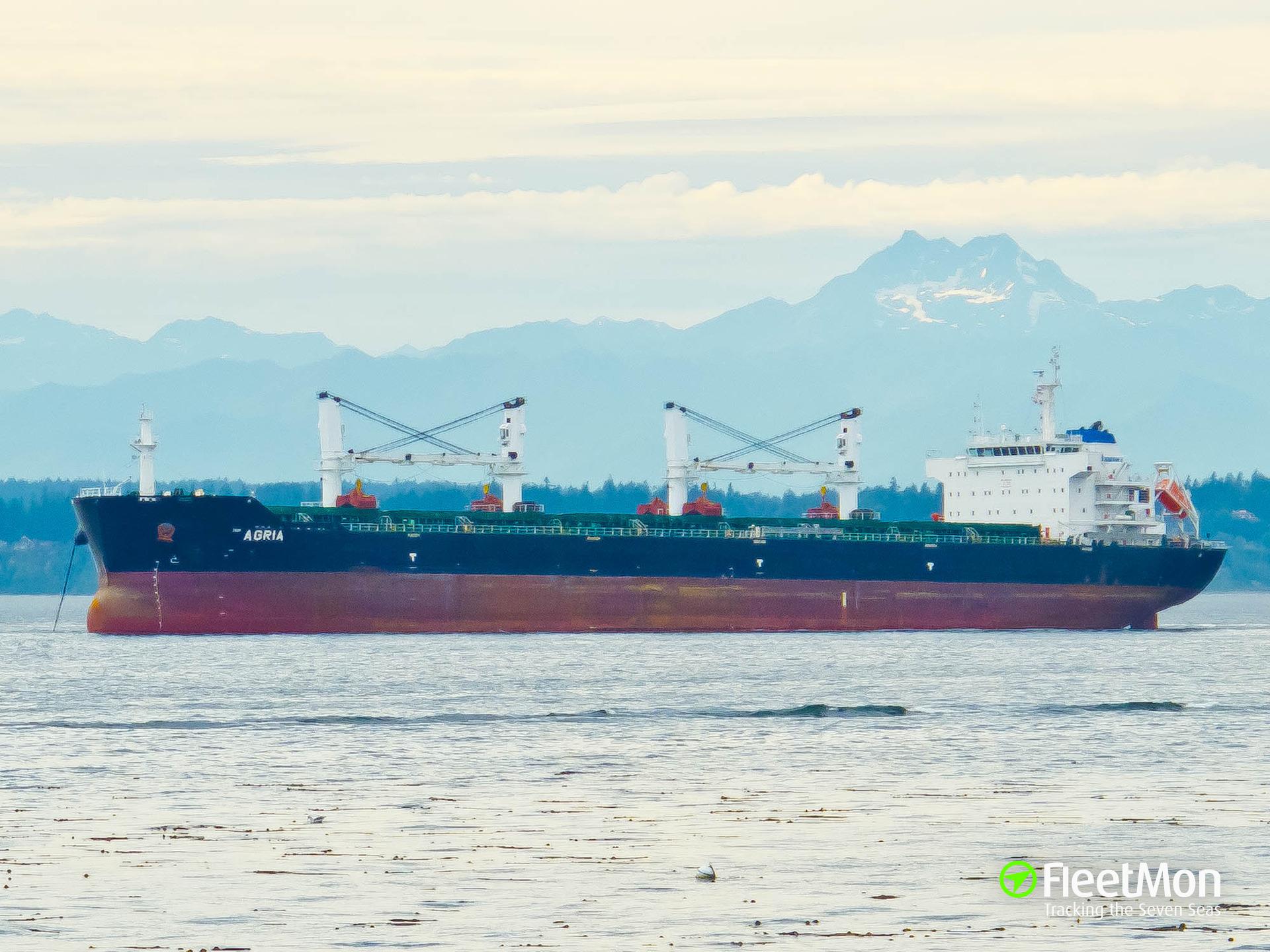 Bulk carrier Agira suffered explosion