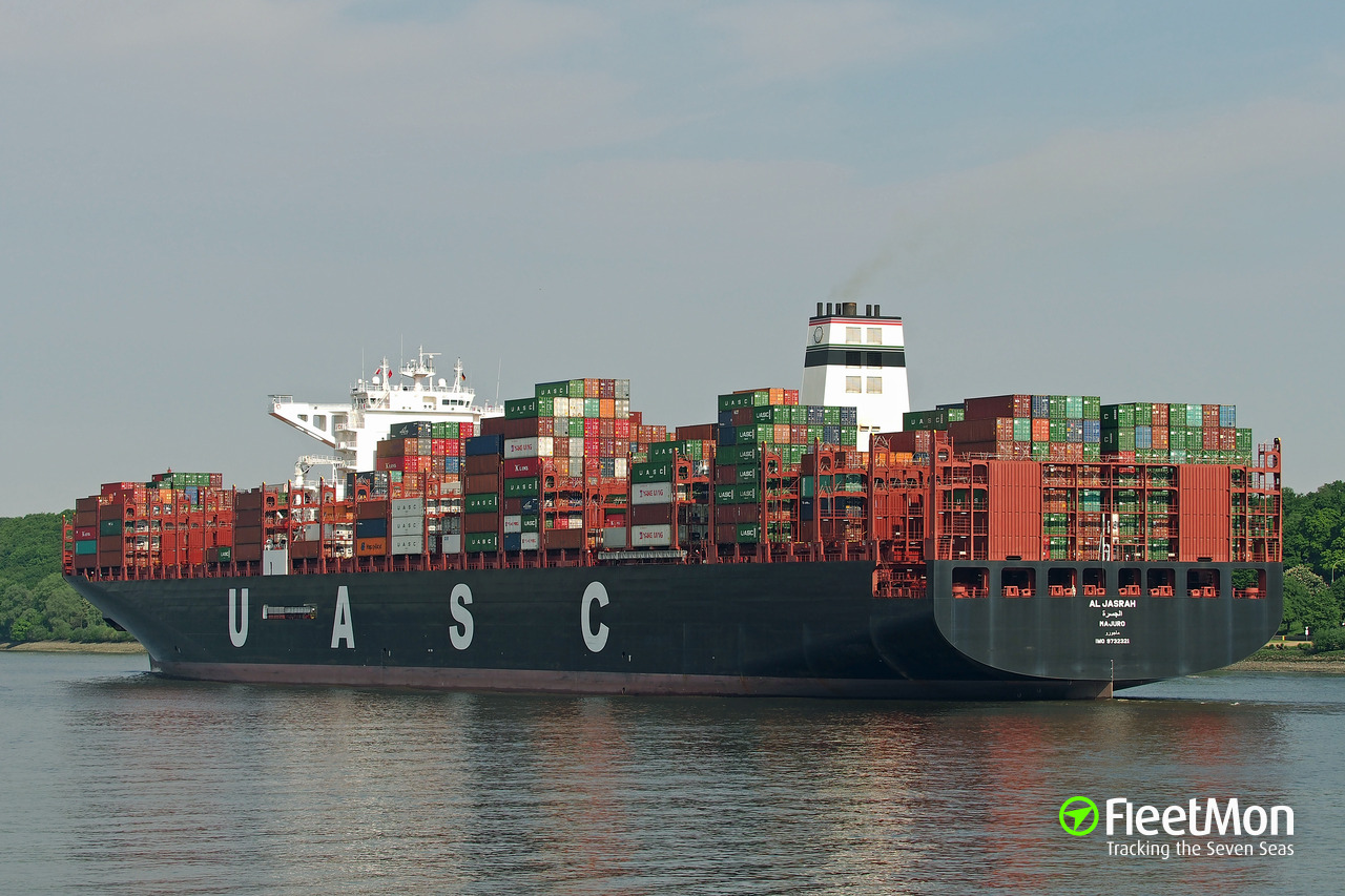 Al Jasrah Container Ship Imo 9732321