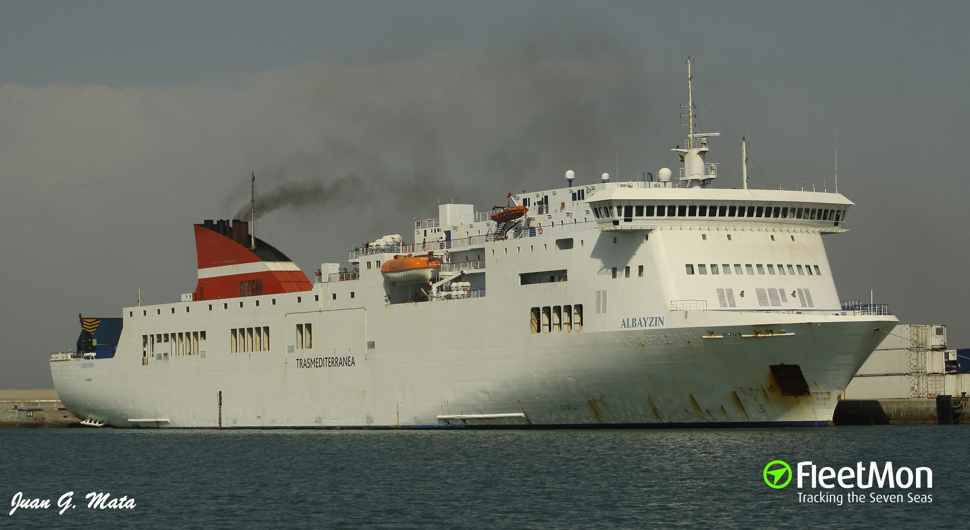 Transmediterranea ferry disabled approaching Canary Islands