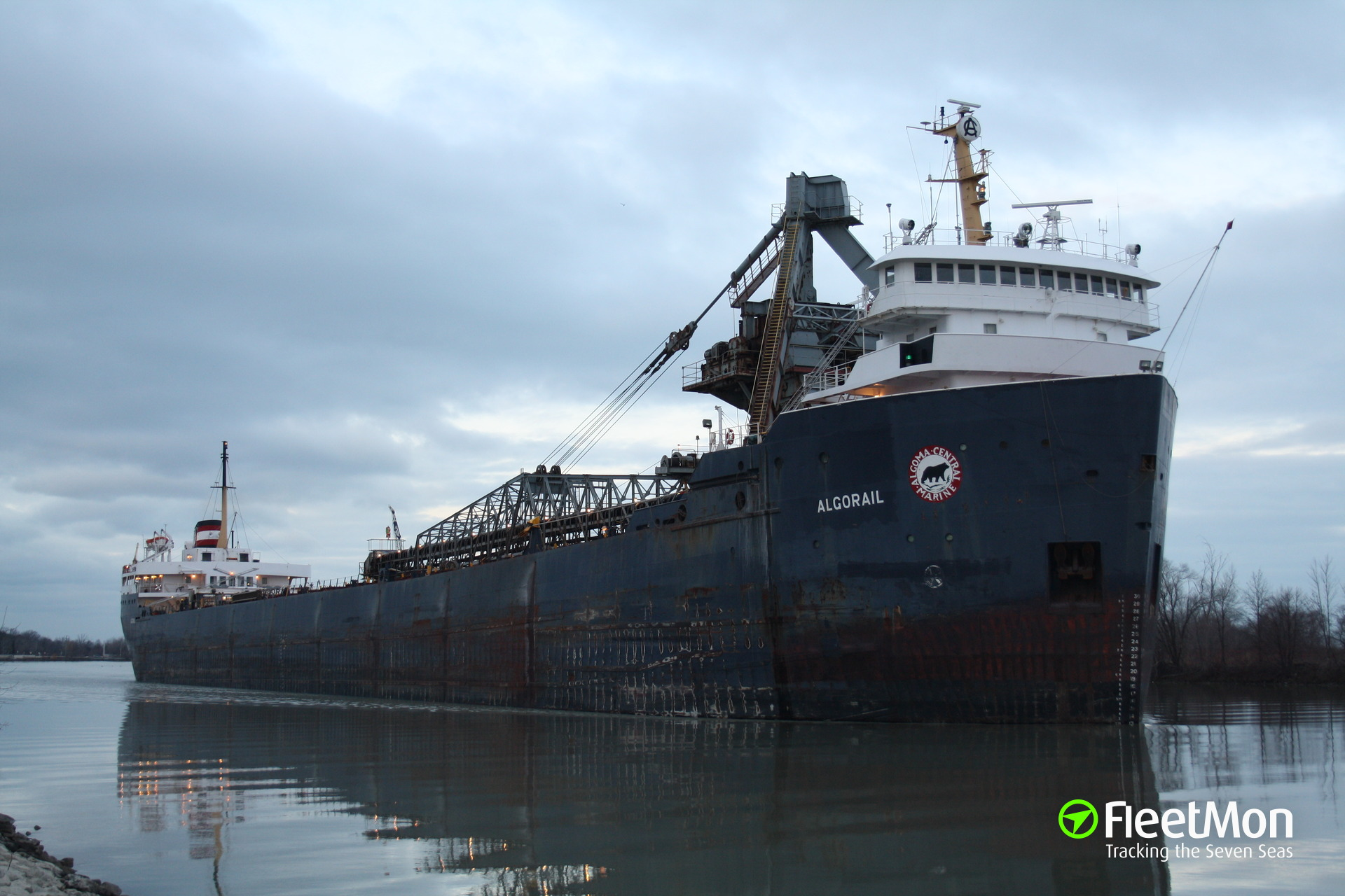 Laker Algorail aground, Saginaw River