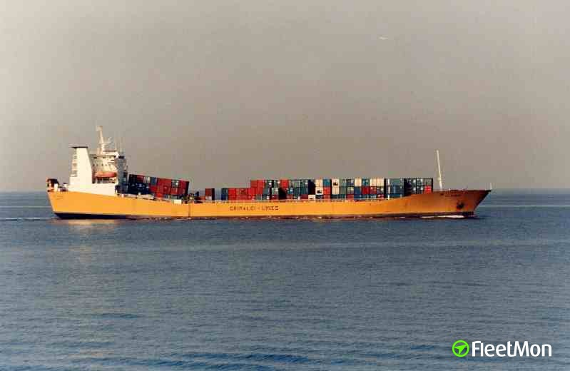 Cargo vessel ALTINIA on fire