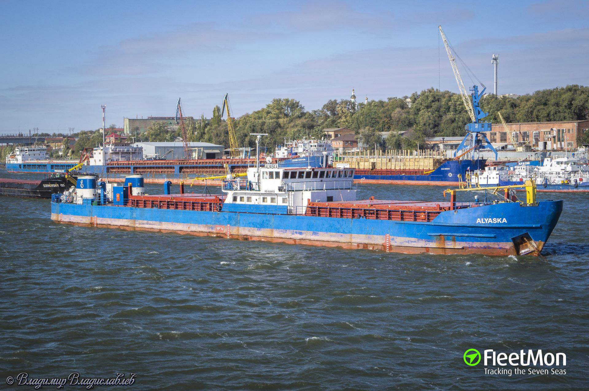 ALYASKA aground in Taganrog Bay, Azov sea