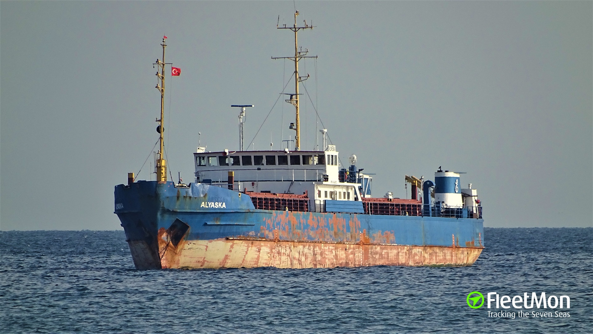 ALYASKA aground in Taganrog Bay, Azov sea