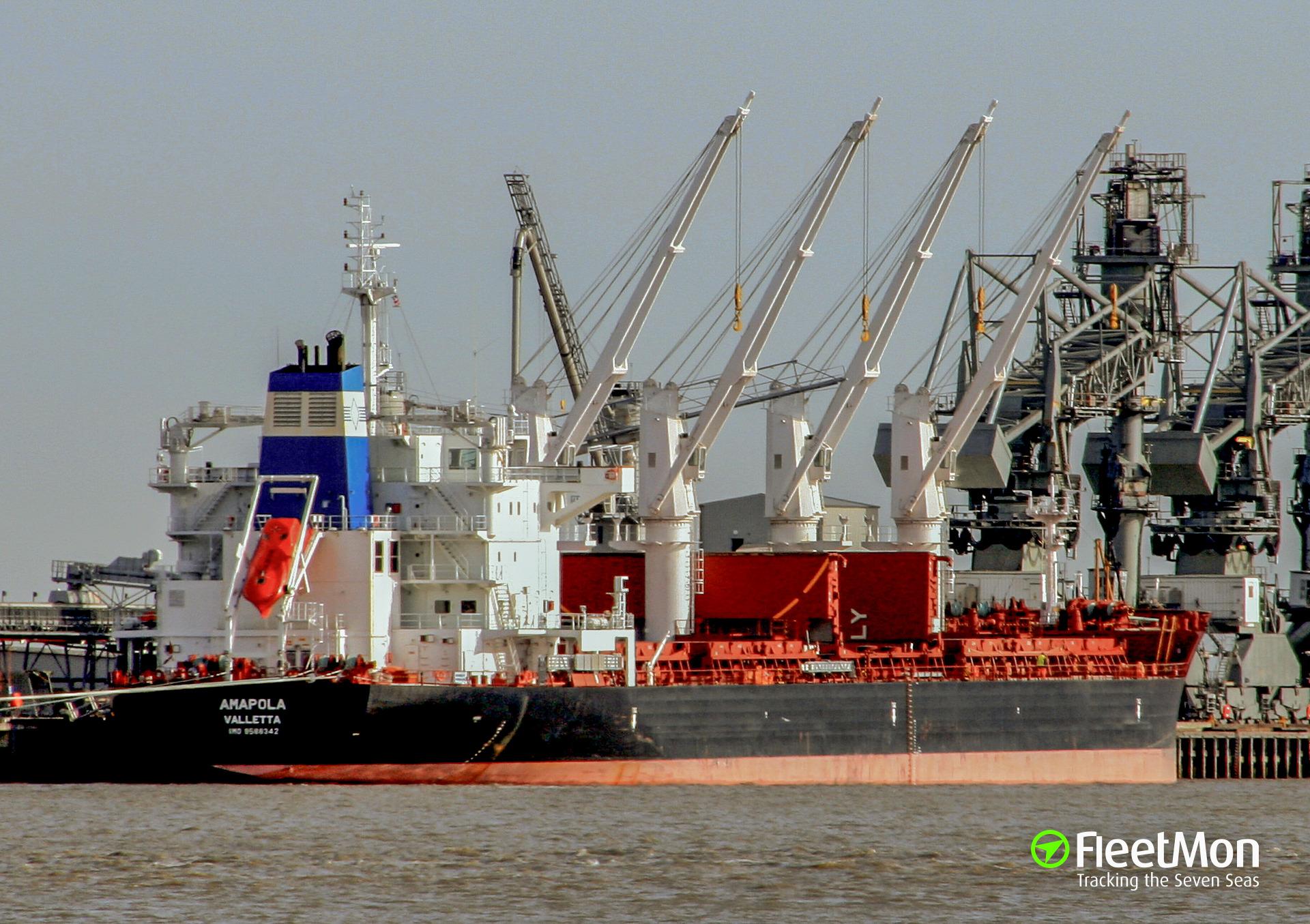 Bulk carrier AMAPOLA two crew dead