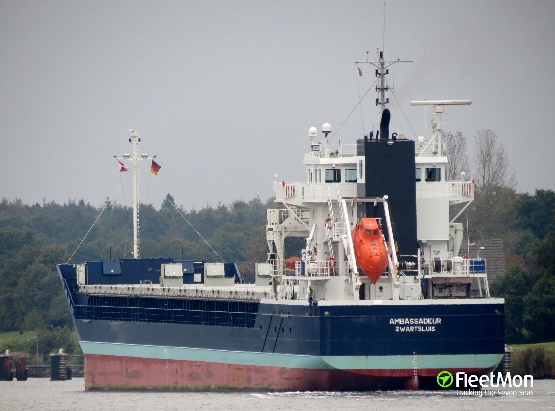 Dutch freighter Ambassadeur sunk French trawler Loïc Lucas in collision, English Canal