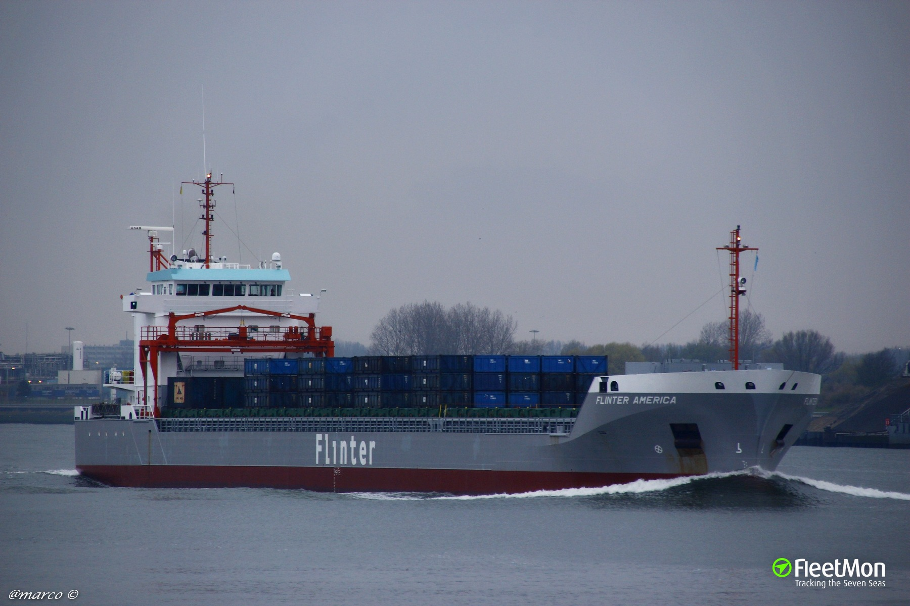 FLINTER AMERICA to be towed to Rotterdam