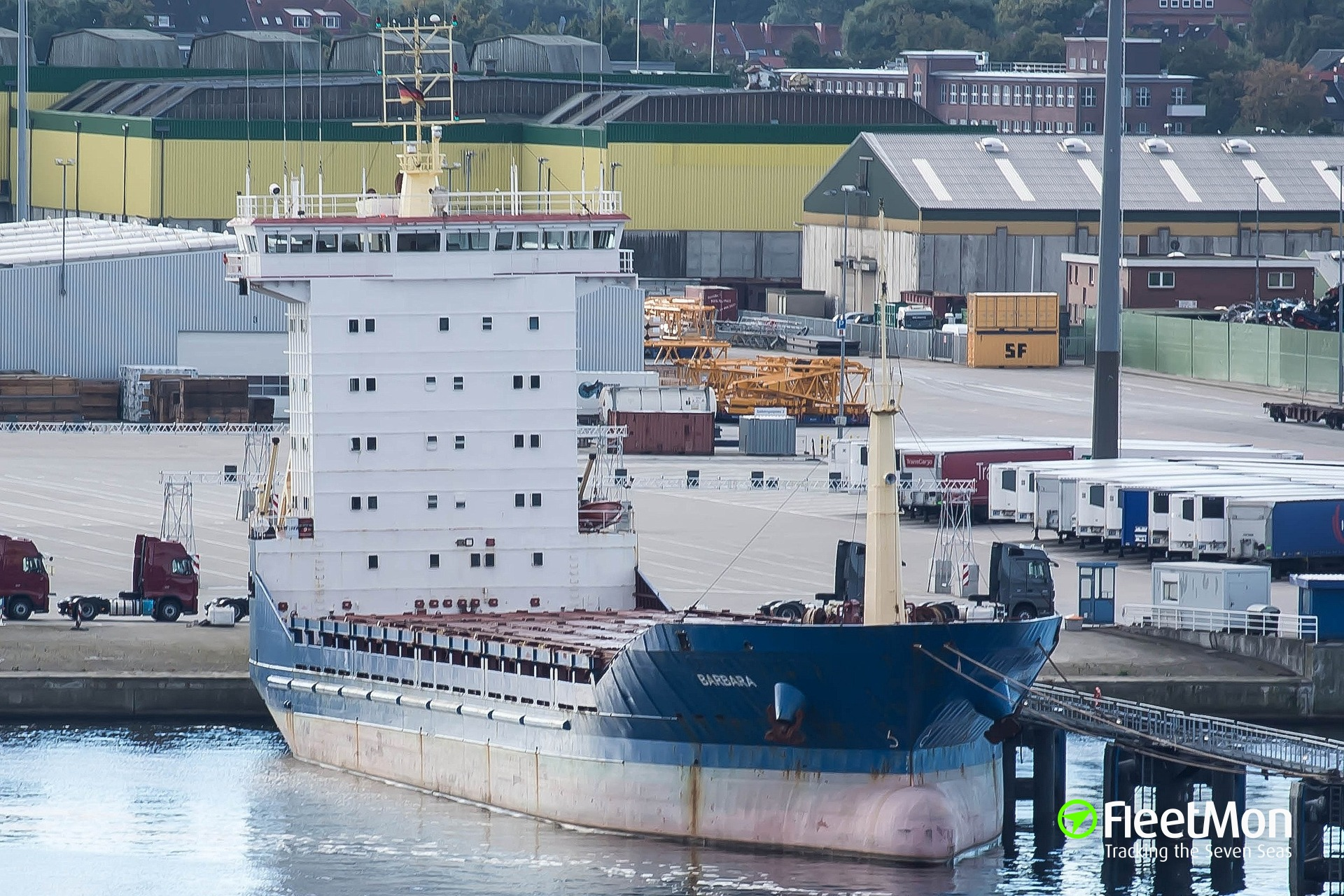 German freighter Barbara arrested in Assens, Denmark