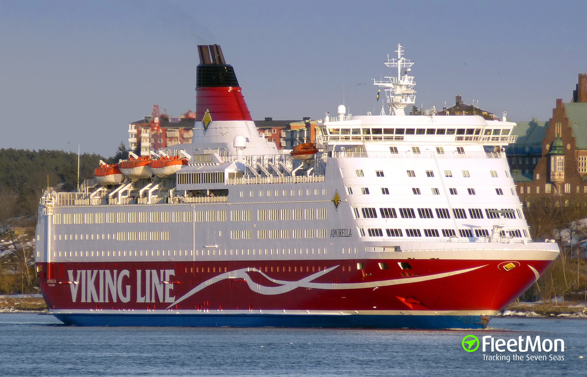 Viking Line's Amorella grounded off Aland Islands