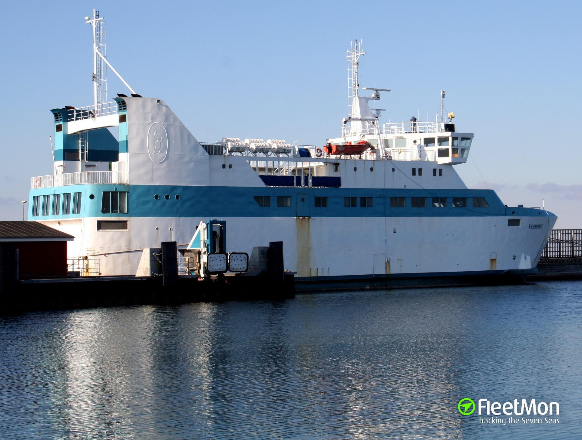 Ferry ANE LAESOE grounding