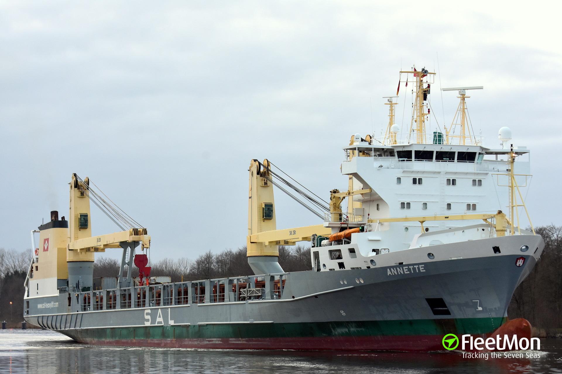 ANNETTE was banned from Kiel Canal transit