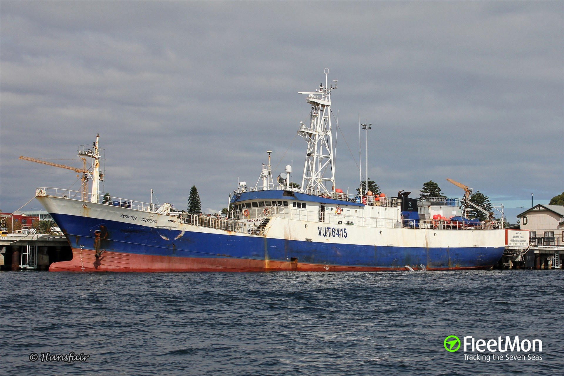 f/v Antarctic Chieftain under tow of icebreaker Polar Star, Antarctic