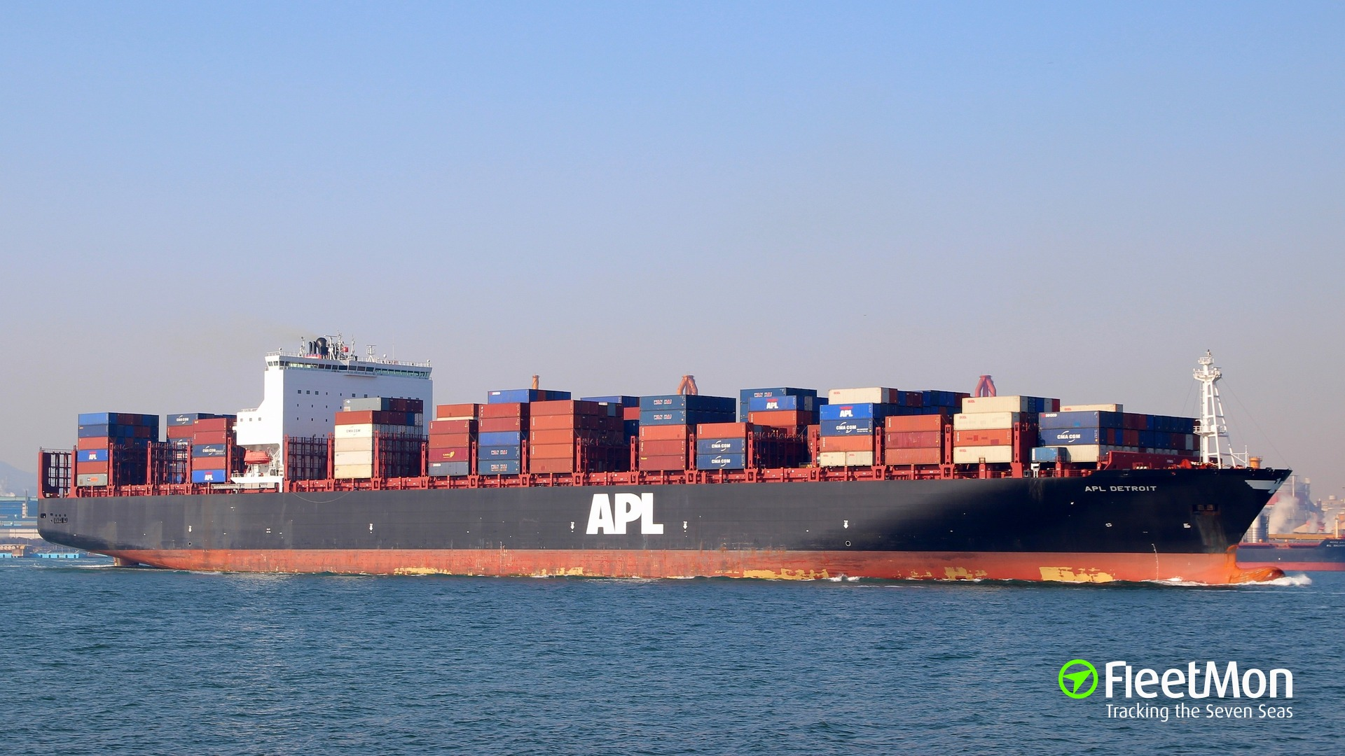 Vessel APL DETROIT (Container ship) IMO 9632208, MMSI 566960000