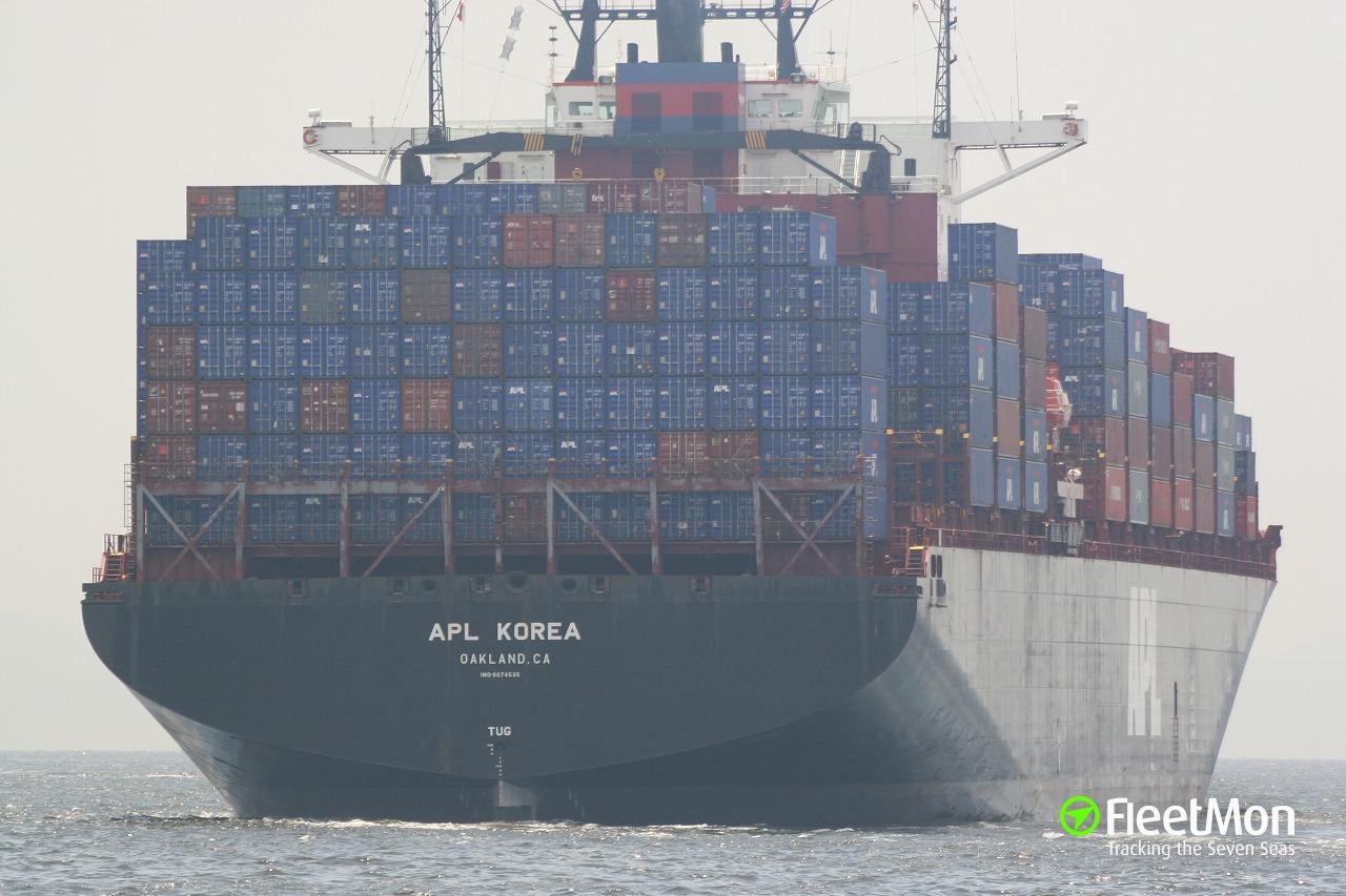 Apl Korea Container Ship Imo 9074535