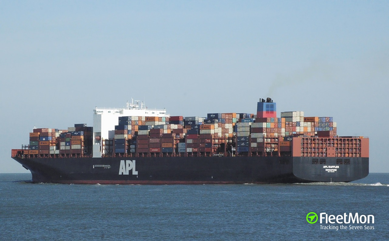 Apl Raffles Container Ship Imo 9631979