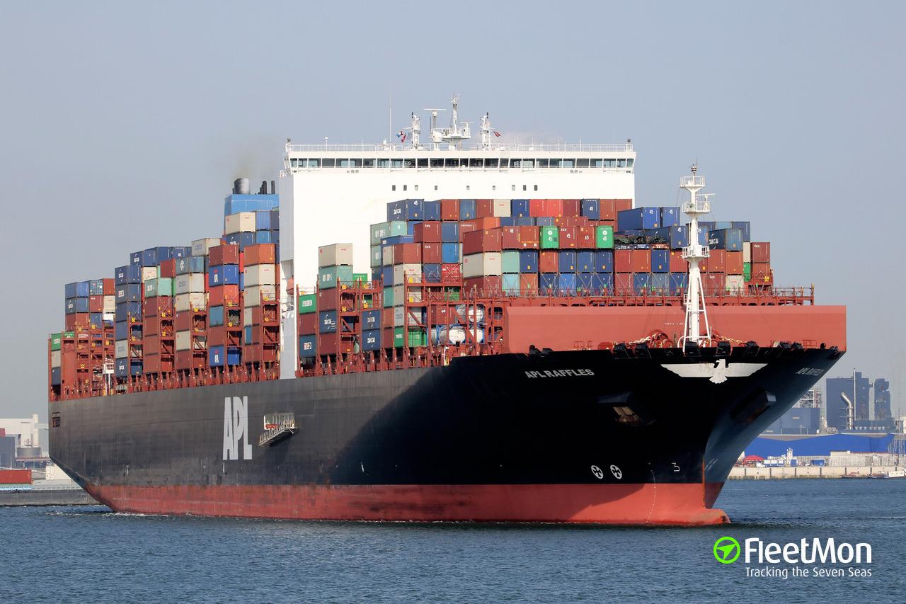 Apl Raffles Container Ship Imo 9631979