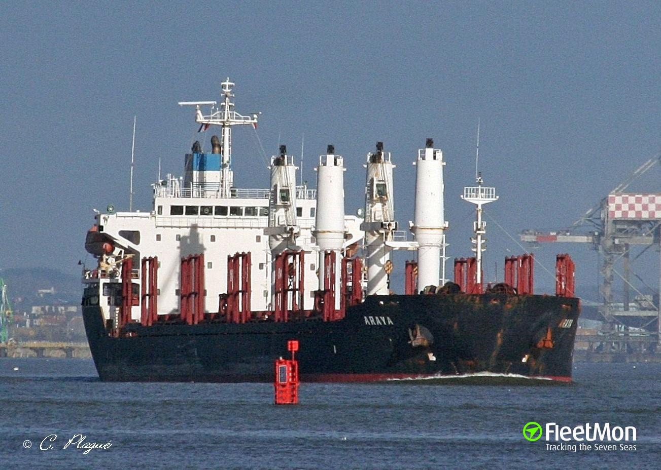 Bulk carrier disabled in Black sea