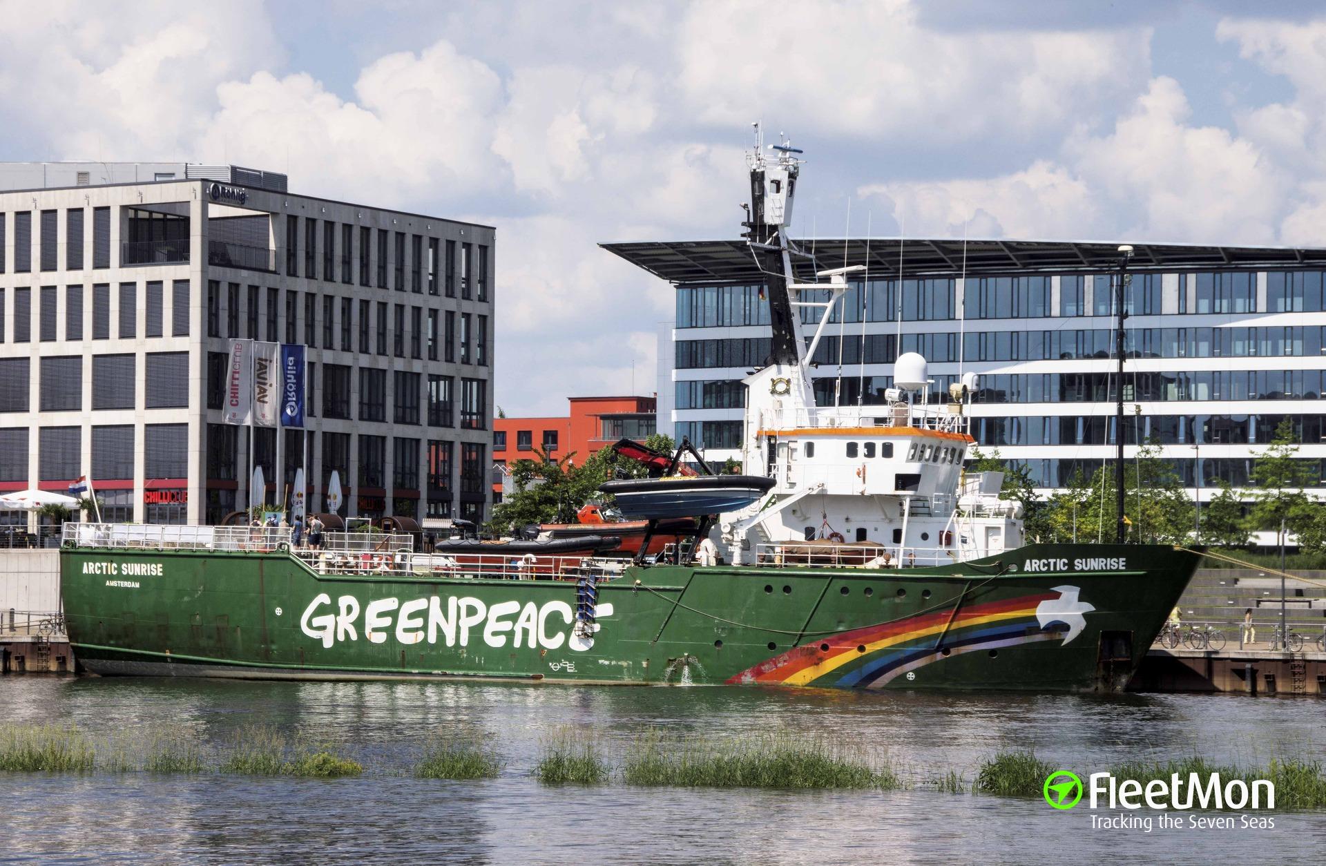 Russian Coast Guard fired warning shots to stop Greenpeace vessel Arctic Sunrise