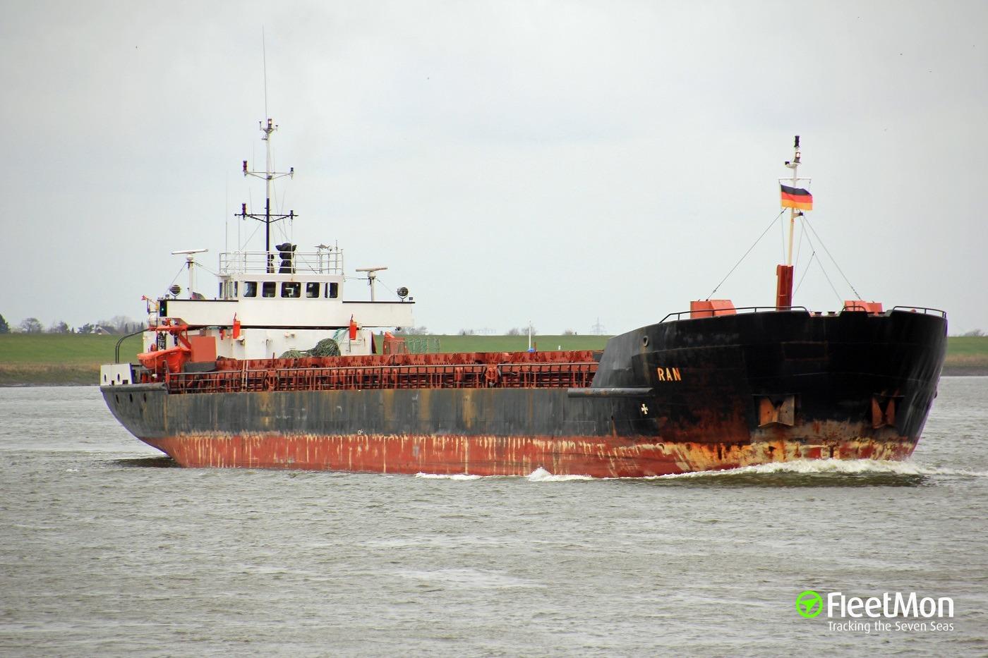 General cargo vessel RAN aground in Oresund, Swedish coast