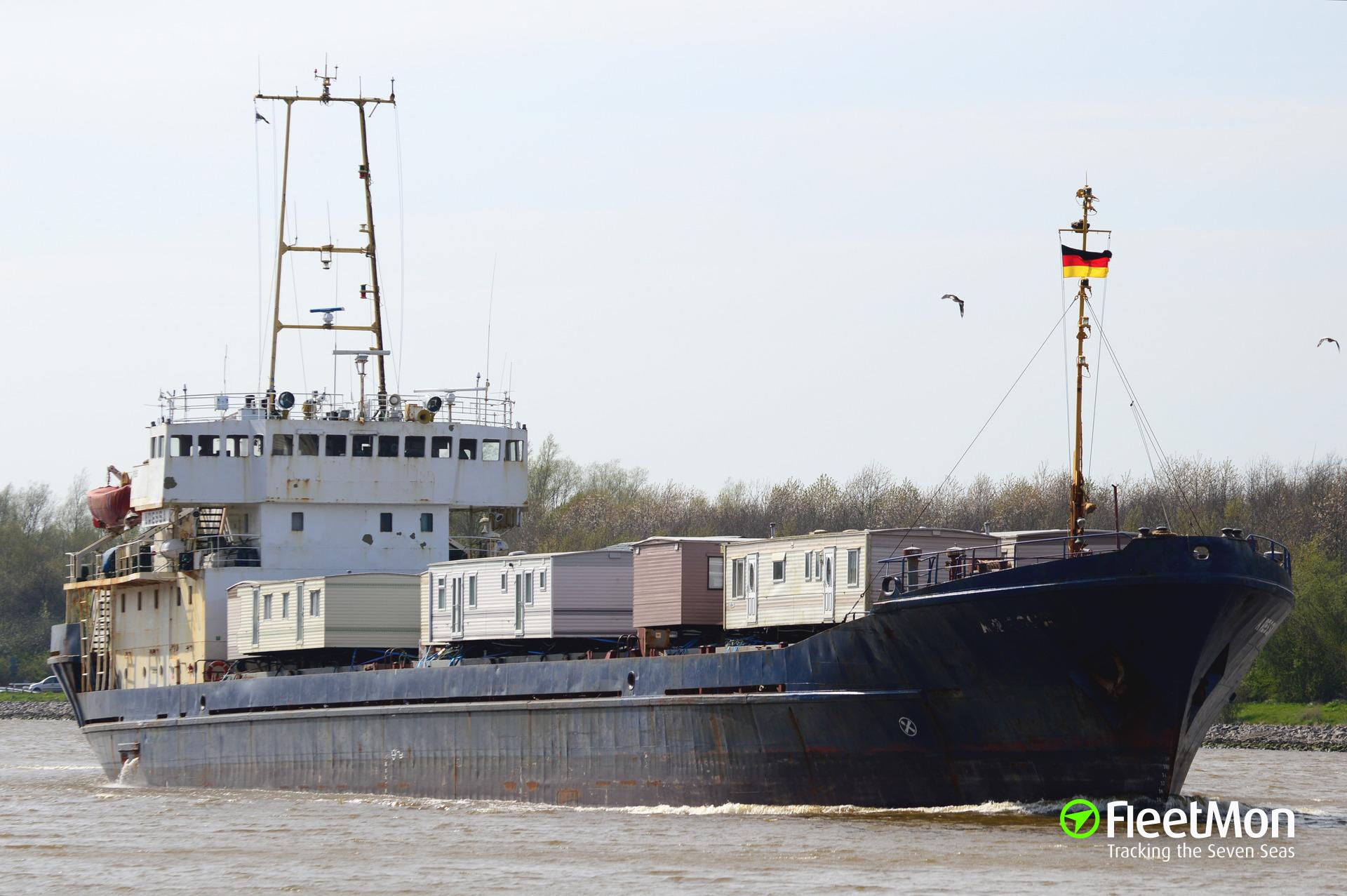Freighter Aressa aground, Volga river