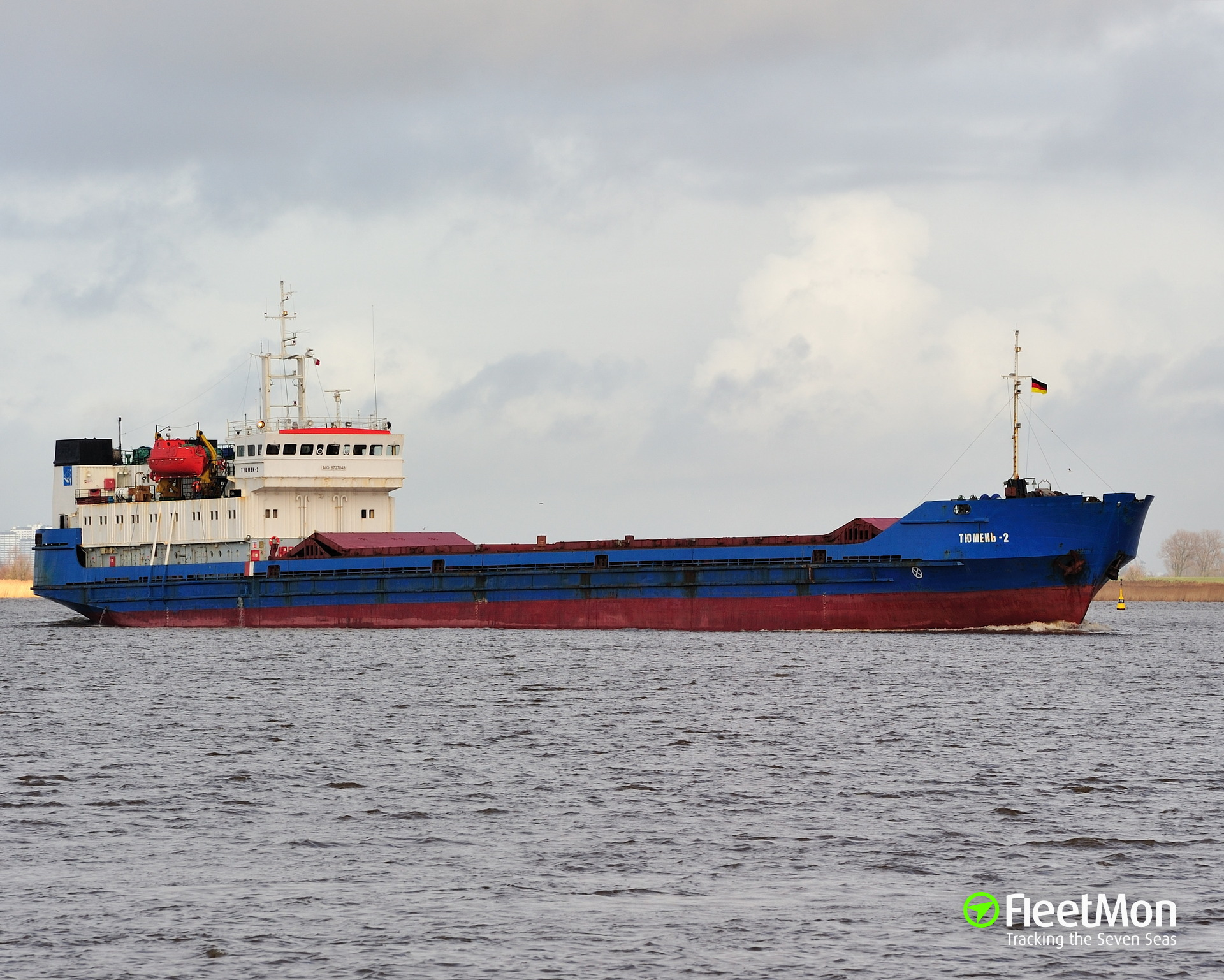 Freighter Tyumen-2 detained in Brunsbuettel, master found drunk