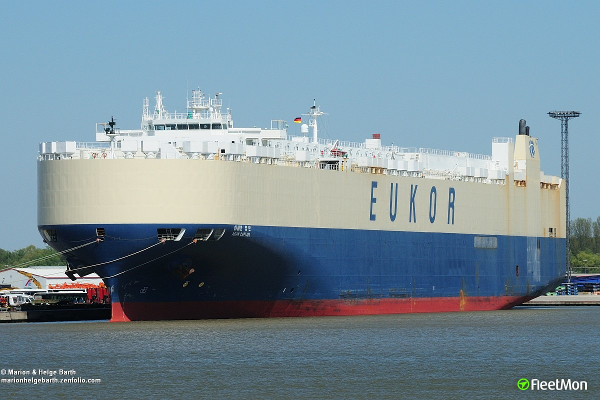 Vessel ASIAN CAPTAIN (Vehicle carrier) IMO 9158616, MMSI