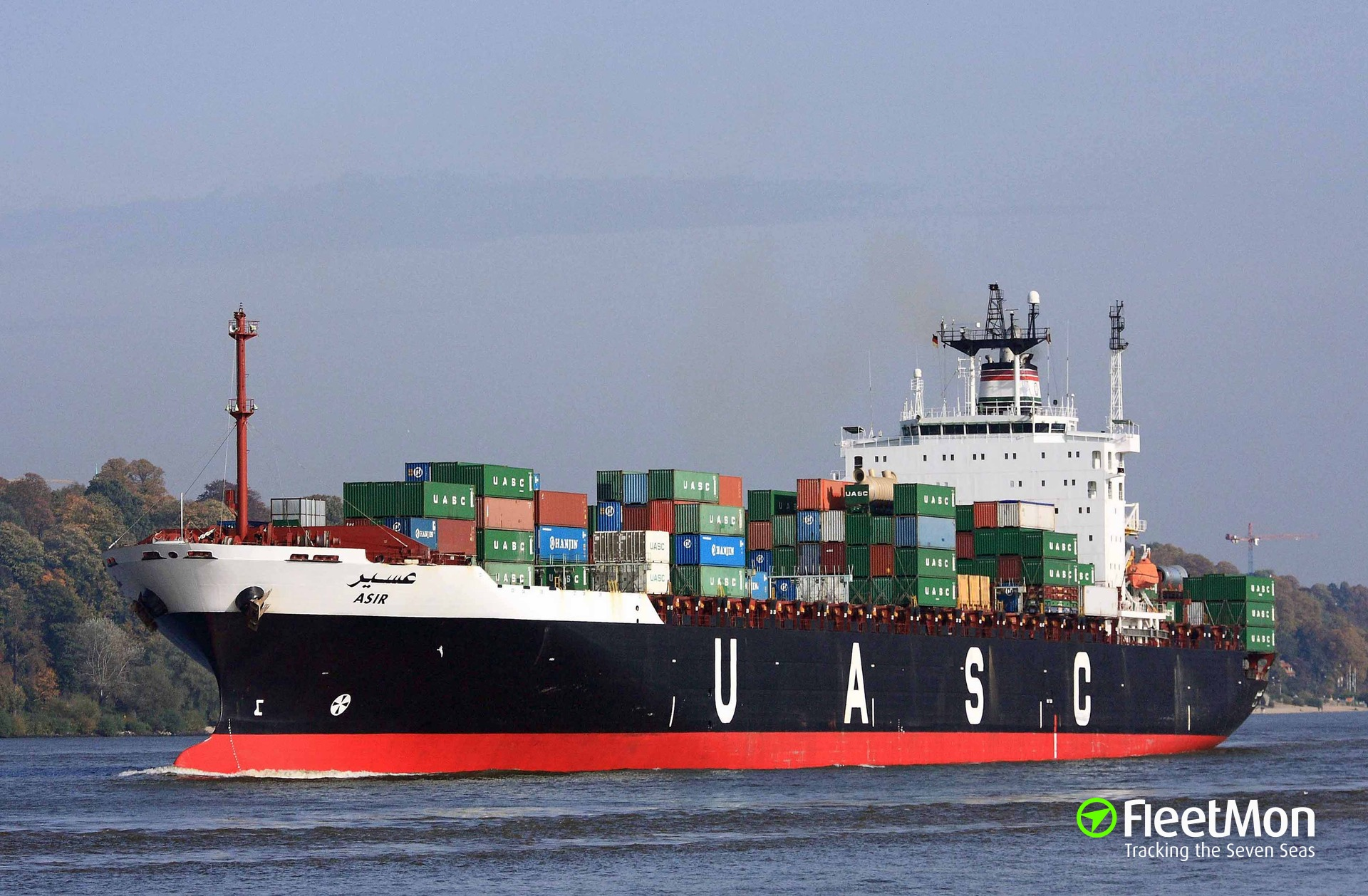 Fire on boxship Asir, 4 injured, vessel disabled, Red Sea