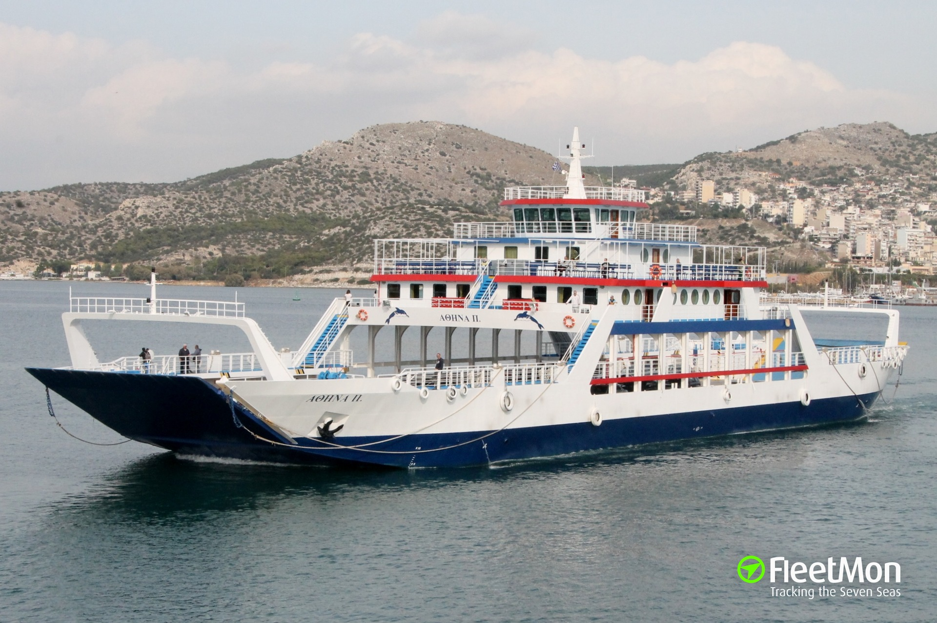 Ferries collided in Piraeus