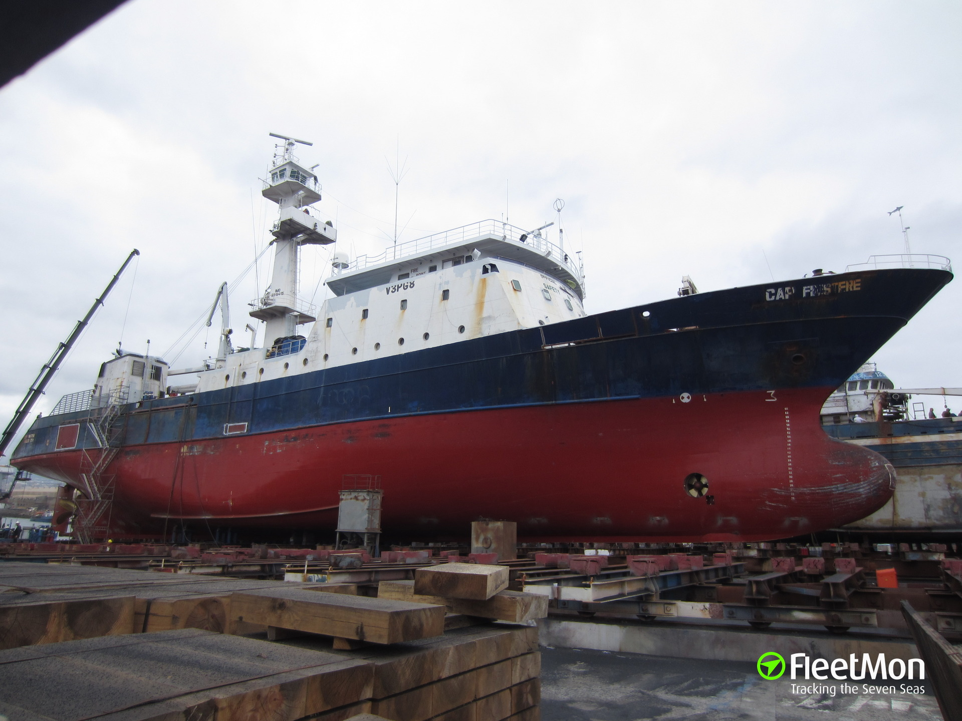 Tuna fishing vessel Cap Finistere disabled in South Atlantic