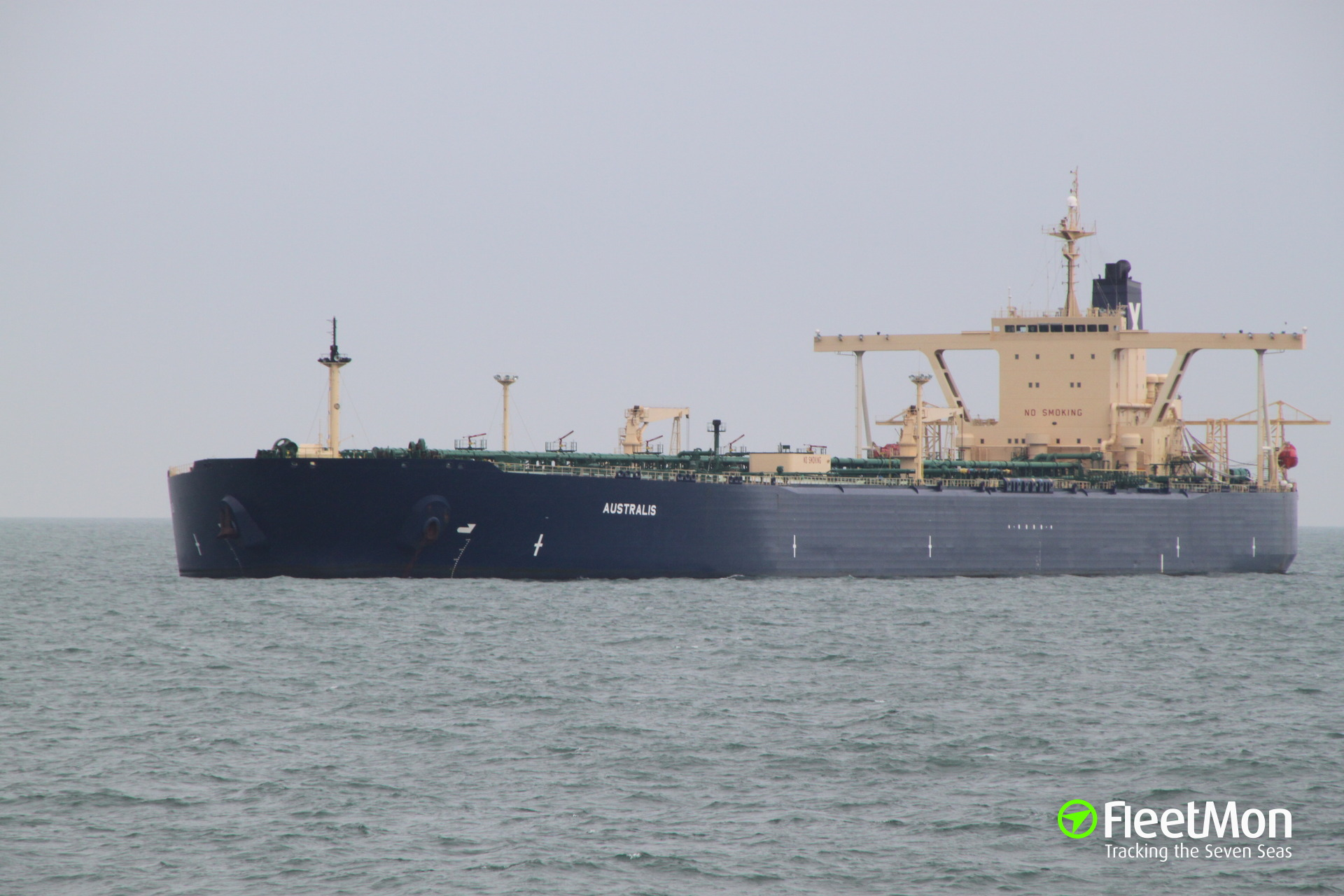 VLCC AUSTRALIS sunk Chinese fishing vessel, six crew missing, tanker diverted to port