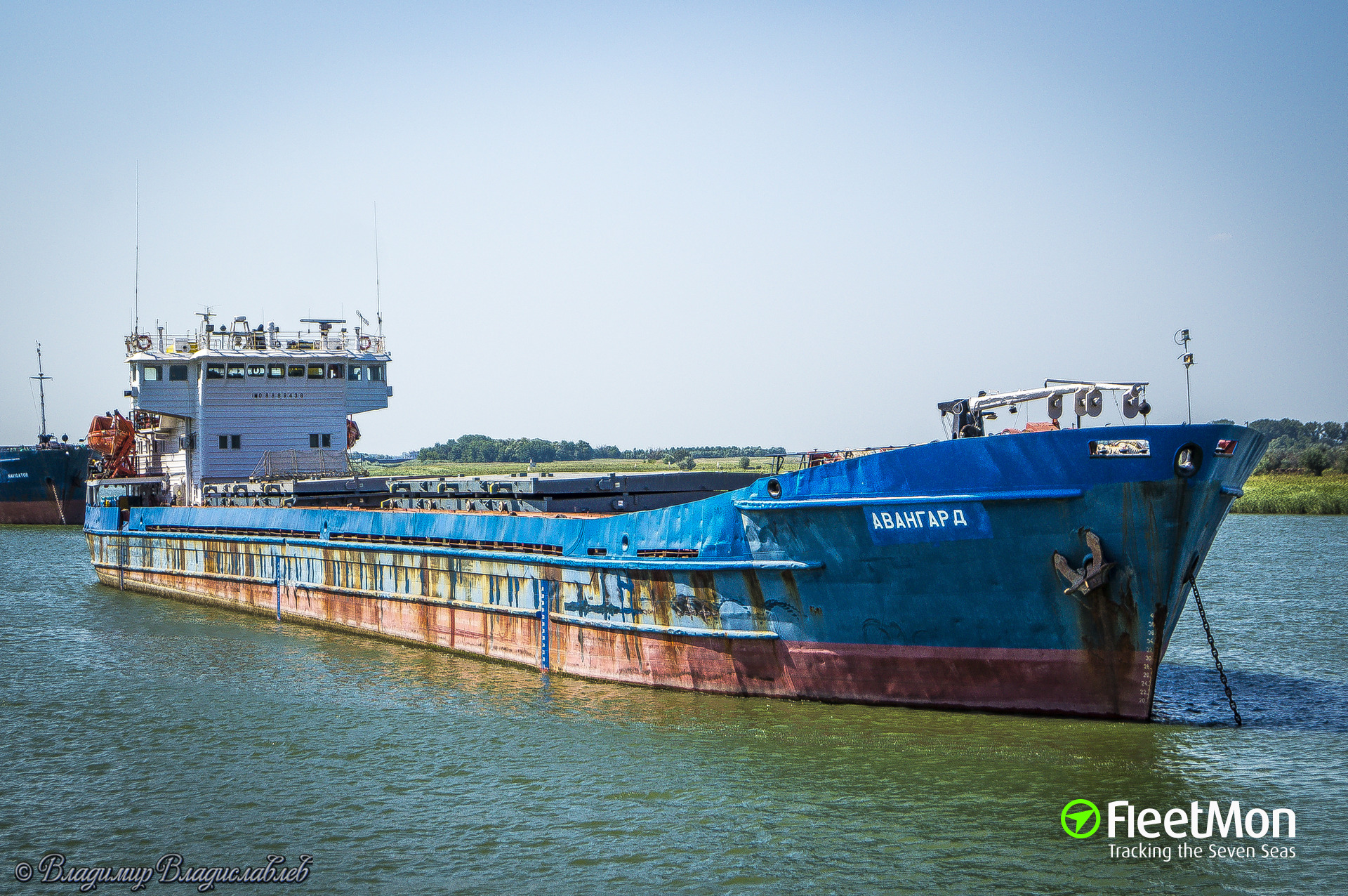 Freighter aground, river Don