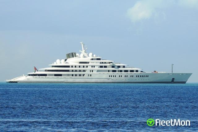 Vessel AZZAM (Yacht) IMO 9693367, MMSI 470992000