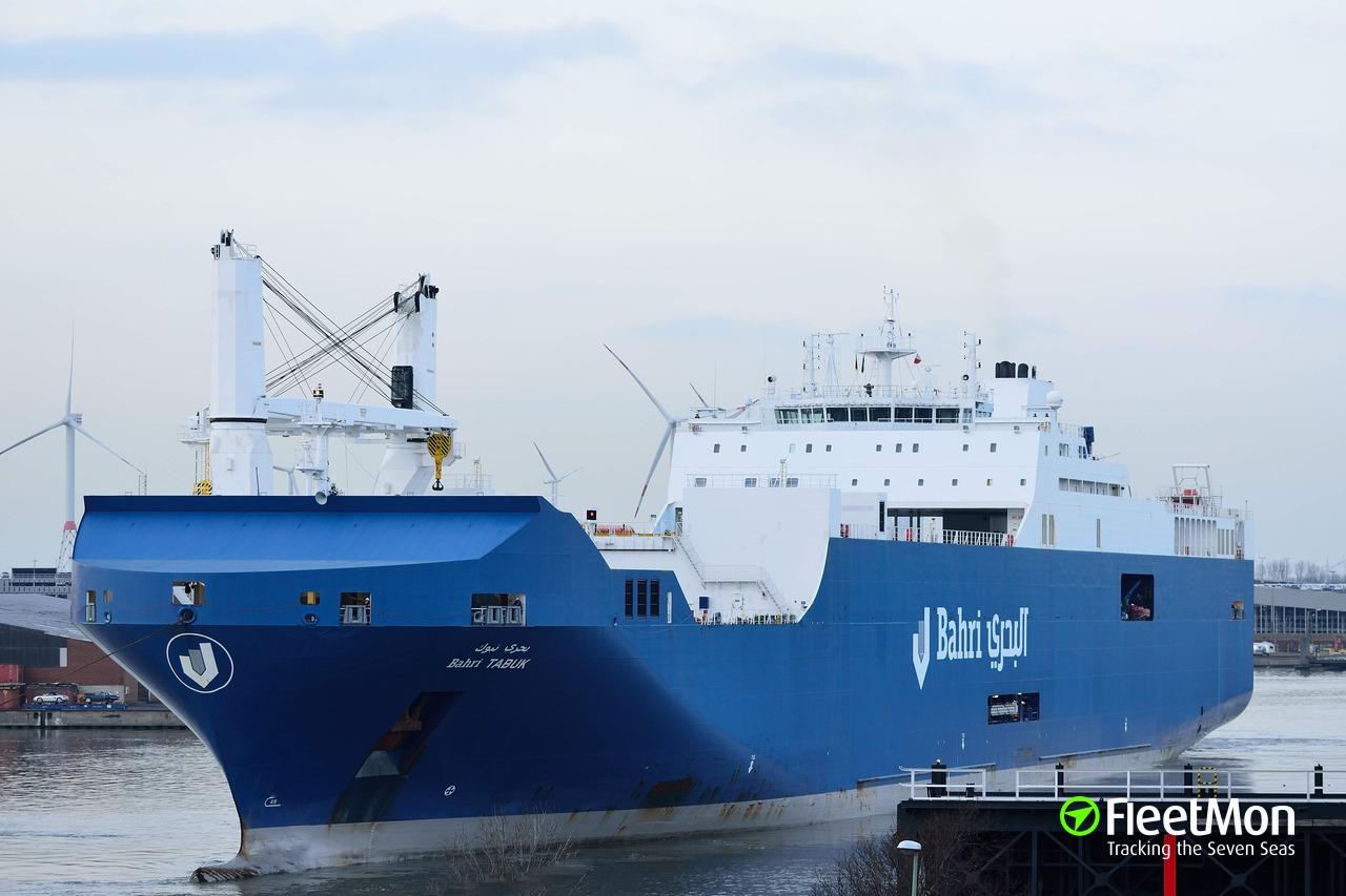 Vessel BAHRI TABUK (RoRo ship) IMO 9620968, MMSI 403526001