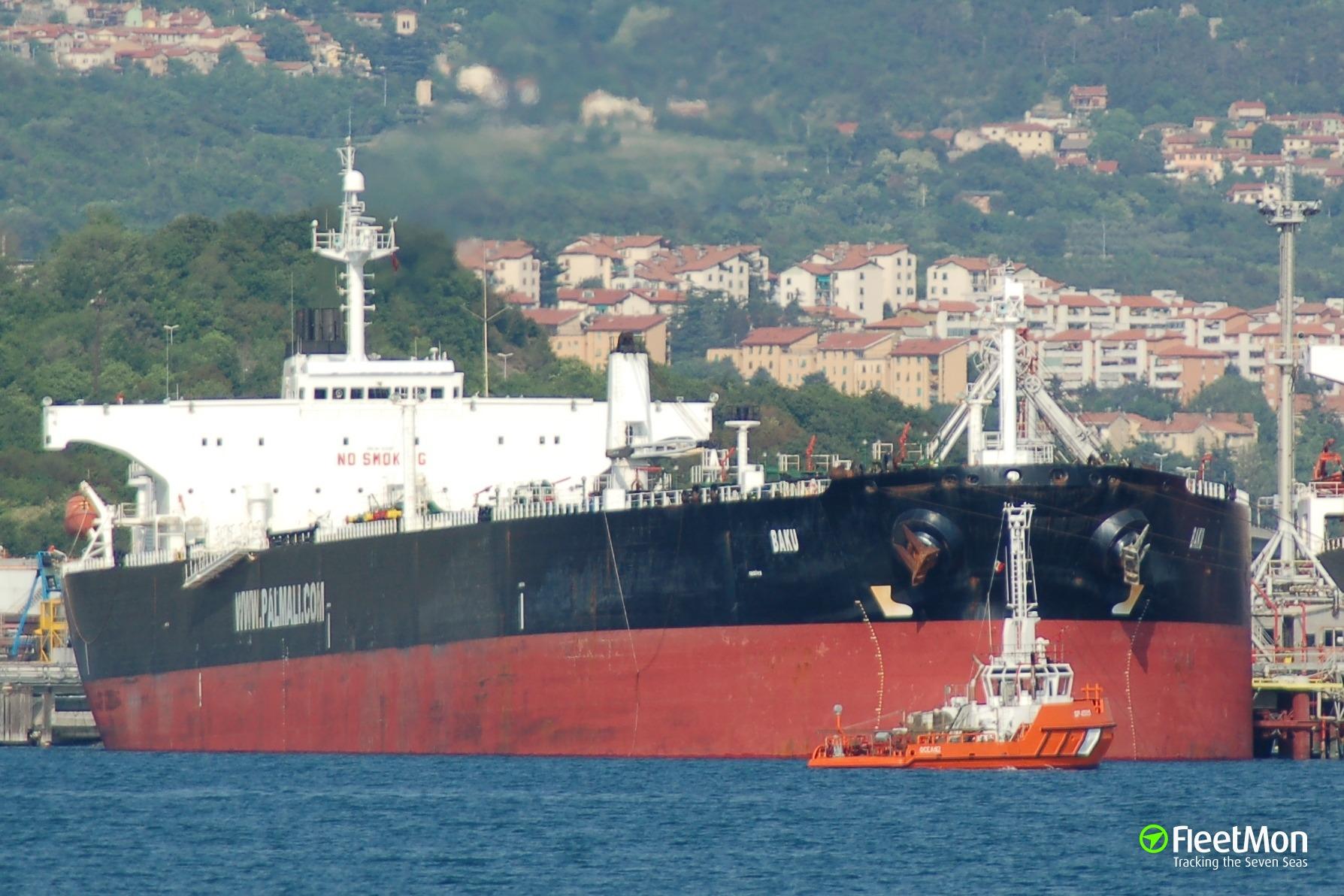 Palmali's aframax Baku fired upon by Libyan Navy