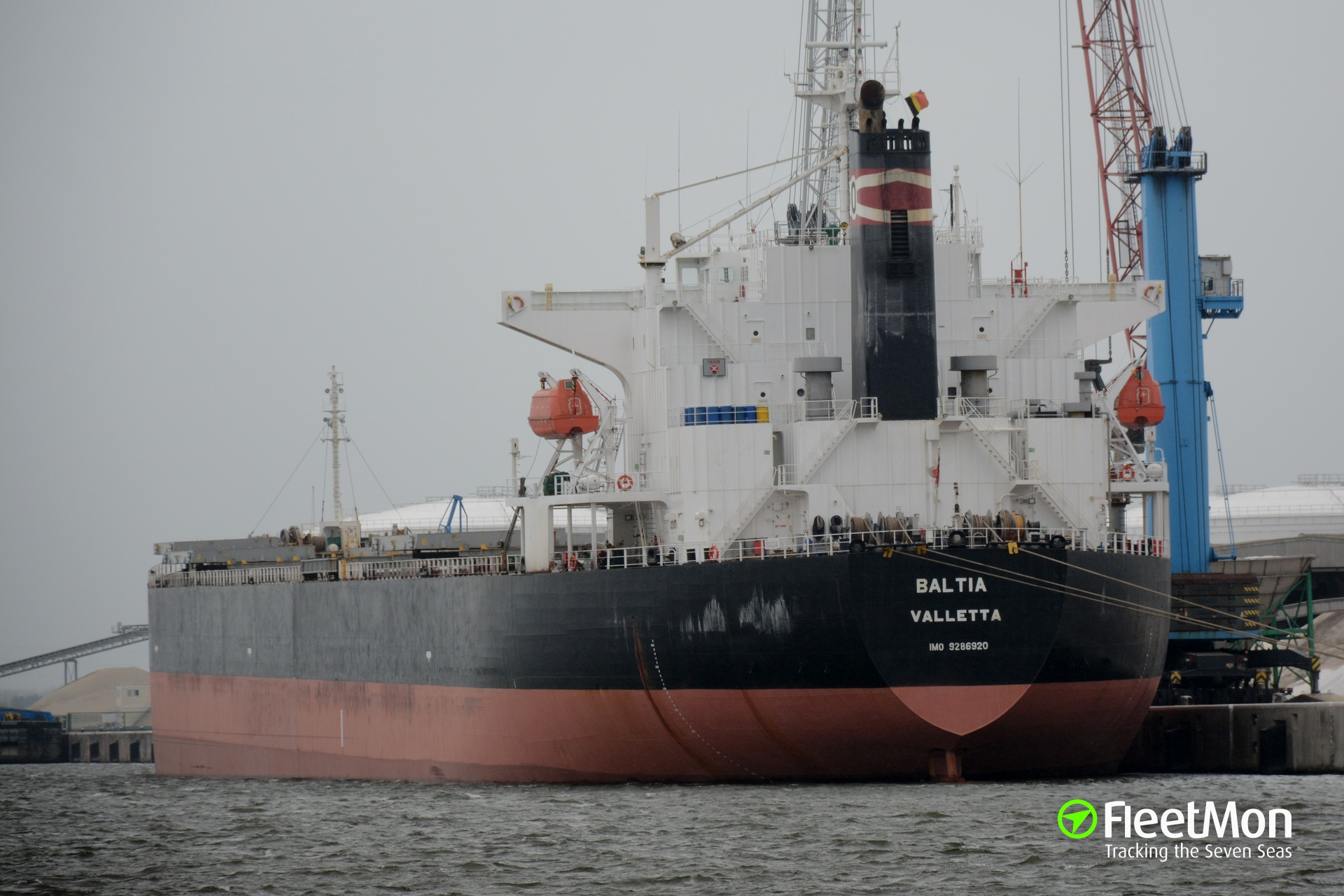 Bulk carrier BALTIA collided with Japanese fishing boat