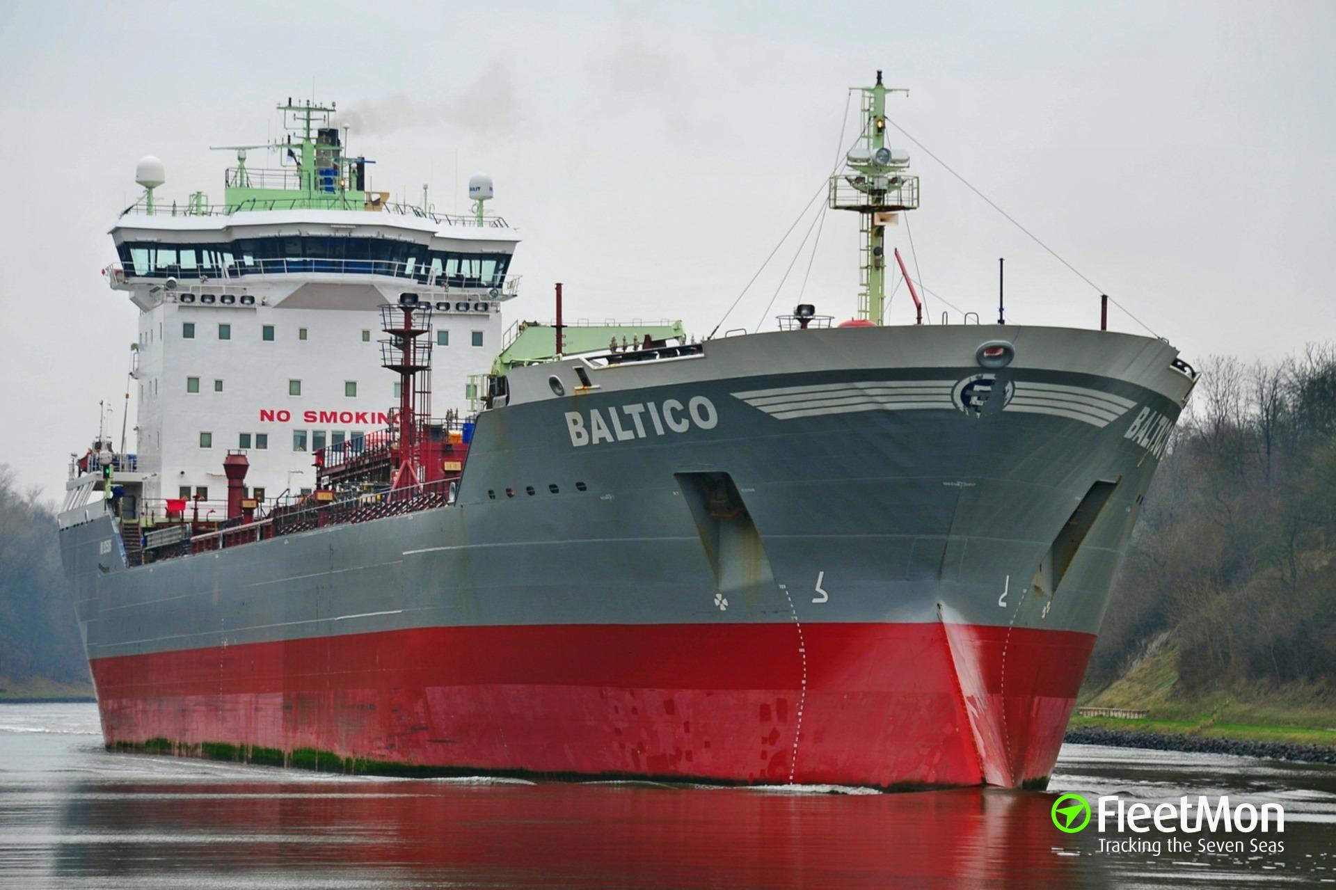 Tanker suffered fire, one crew injured, Denmark