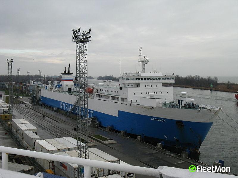 Rail and car ferry BALTIYSK cargo shift, list, Baltic Sea