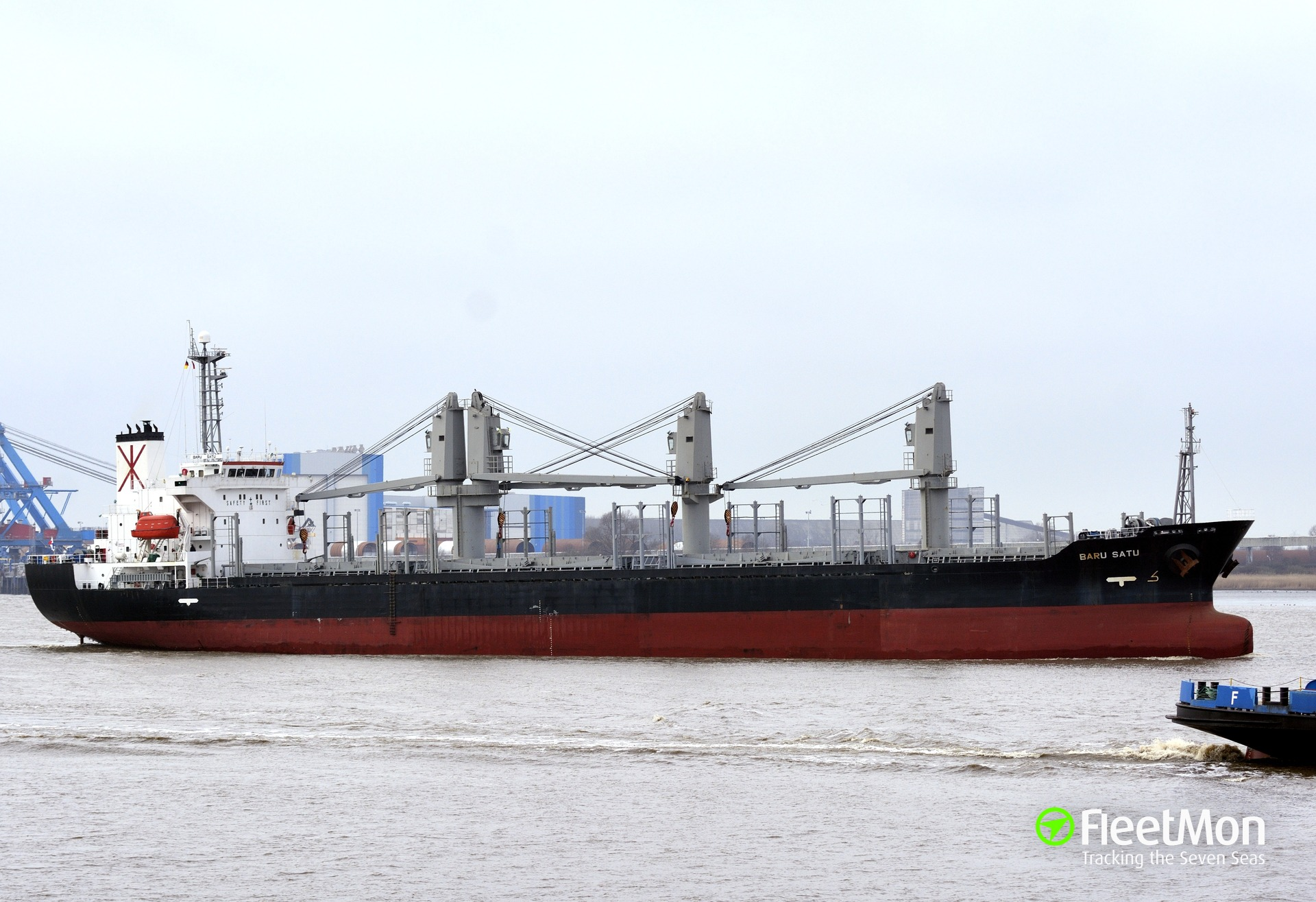 Bulk carriers Katherine and Baru Satu are under tow