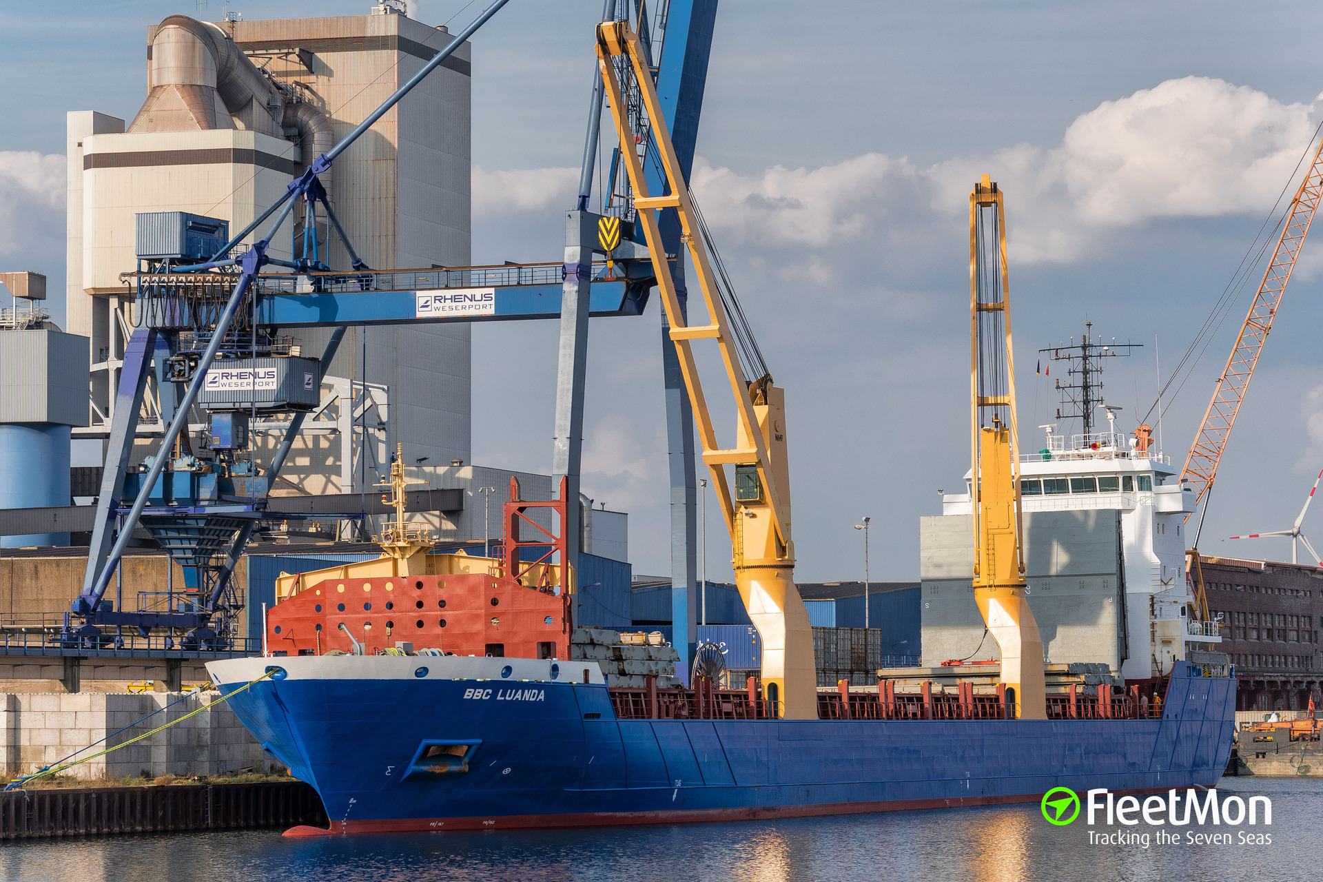 German freighter Brielle got a heavy list in the Atlantic