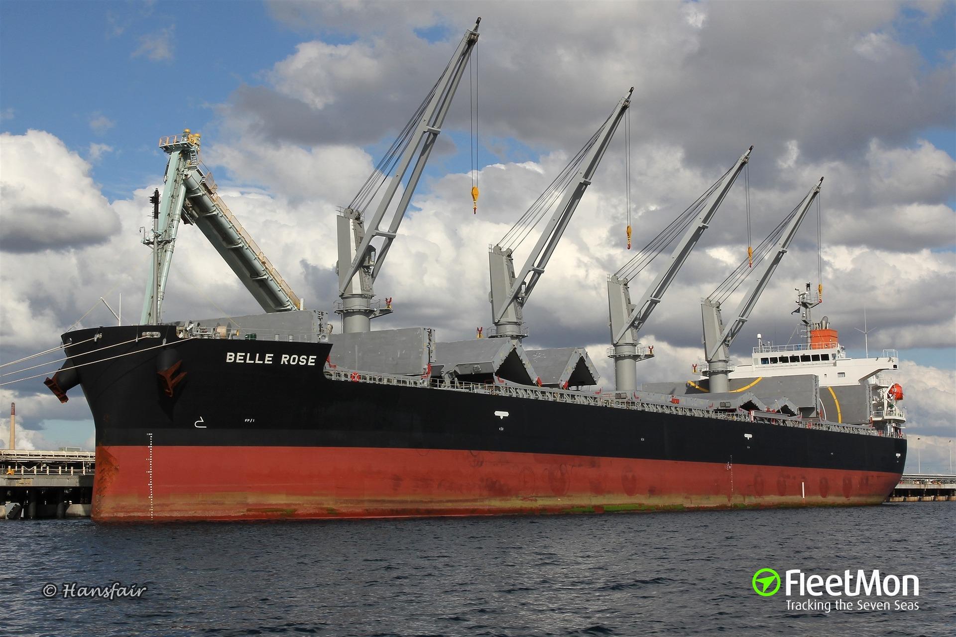 Bulk carrier BELLE ROSE refloated