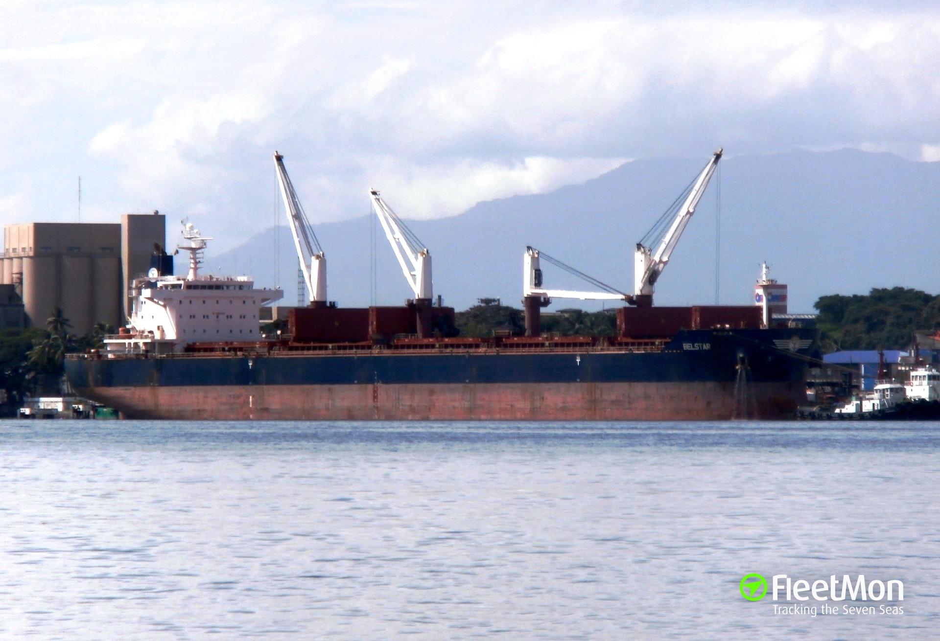 Bulk carrier BELSTAR interrupted voyage to medevac ill crew, North Pacific